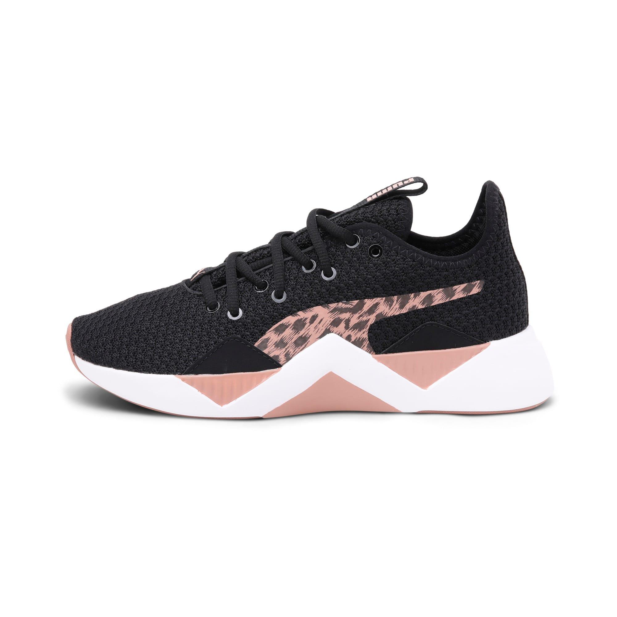 Thumbnail 1 of Incite Leopard Women's Sneakers, Puma Black-Mocha Mousse, medium