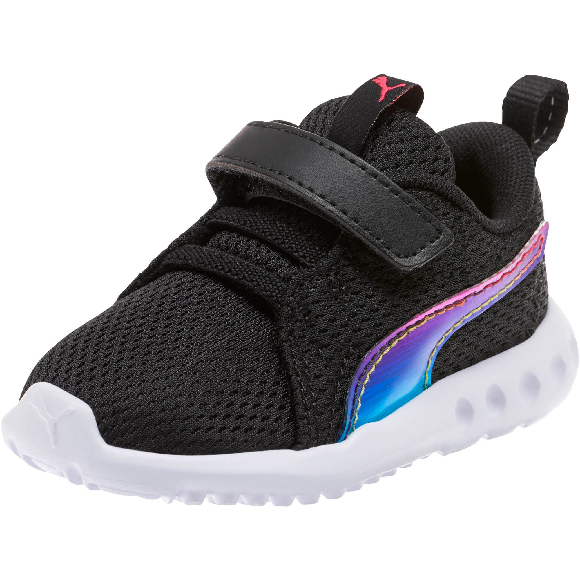 Thumbnail 1 of Carson 2 Iridescent Toddler Shoes, Puma Black-Puma White, medium