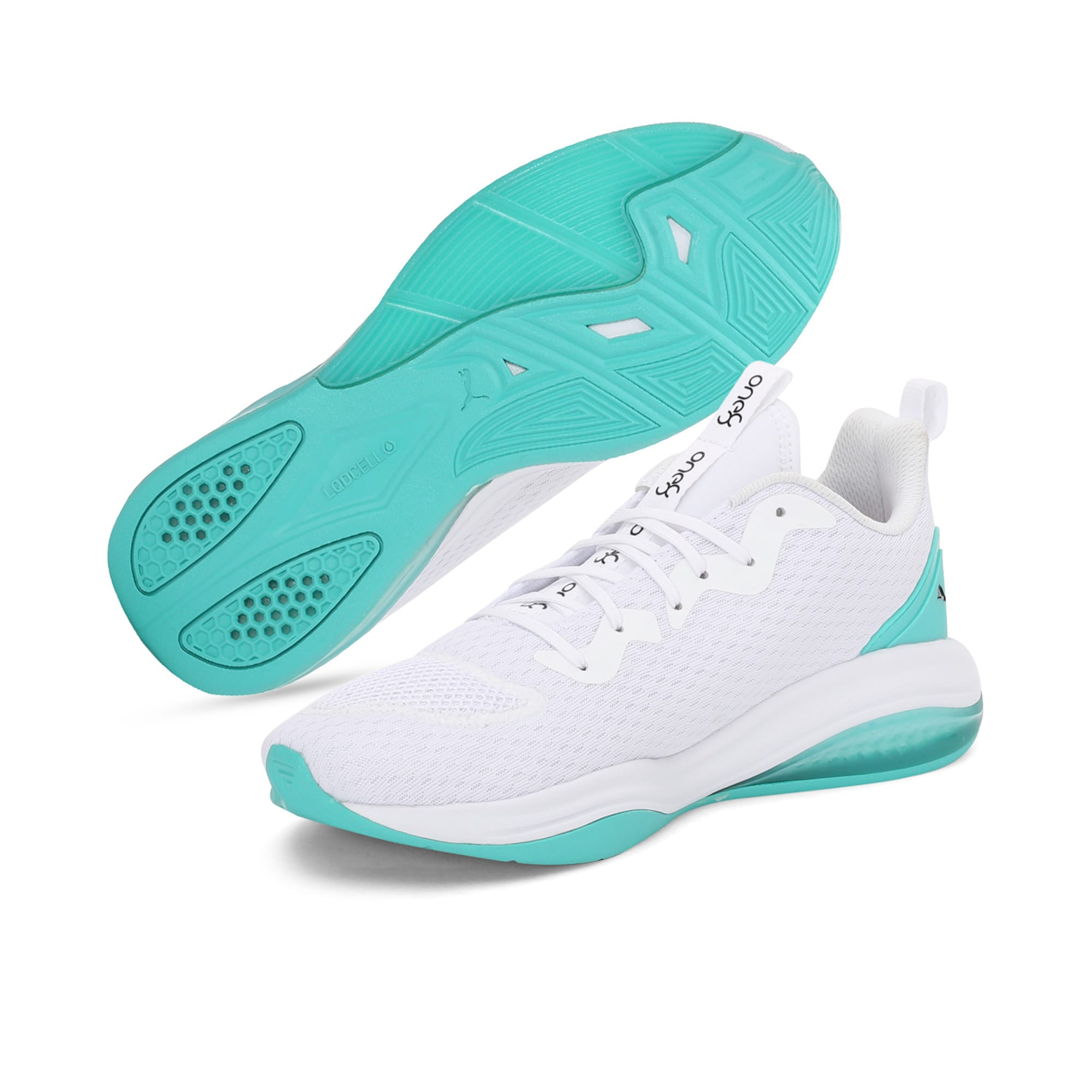 Thumbnail 2 of LQDCELL Tension one8 Men's Training Shoes, Puma White-Blue Turquoise, medium-IND
