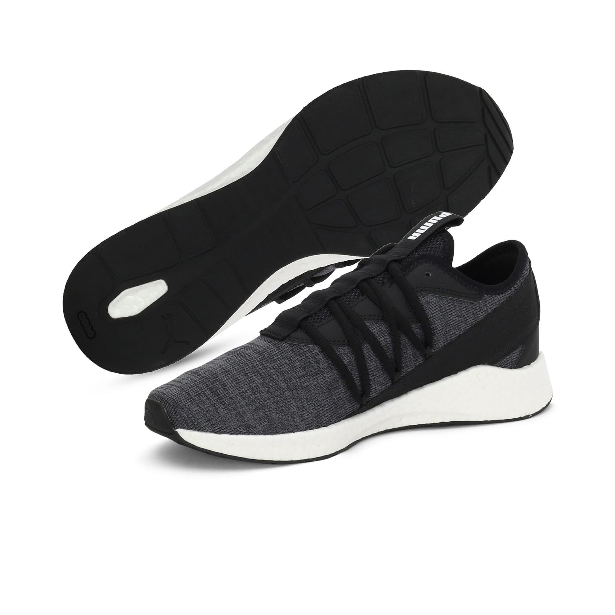 Thumbnail 2 of NRGY Star Knit one8 Unisex Running Shoes, Puma Black-Puma White, medium-IND