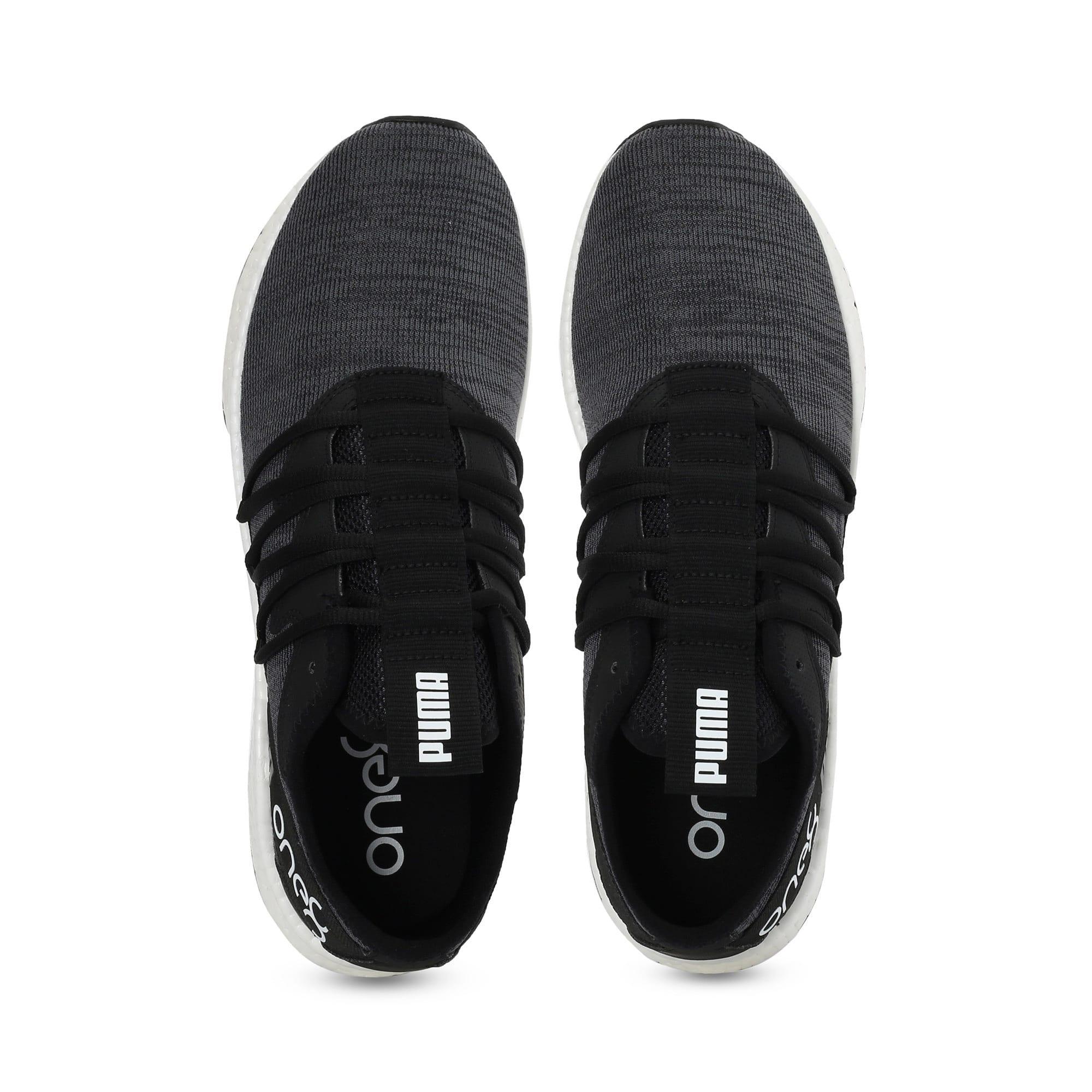 Thumbnail 6 of NRGY Star Knit one8 Unisex Running Shoes, Puma Black-Puma White, medium-IND
