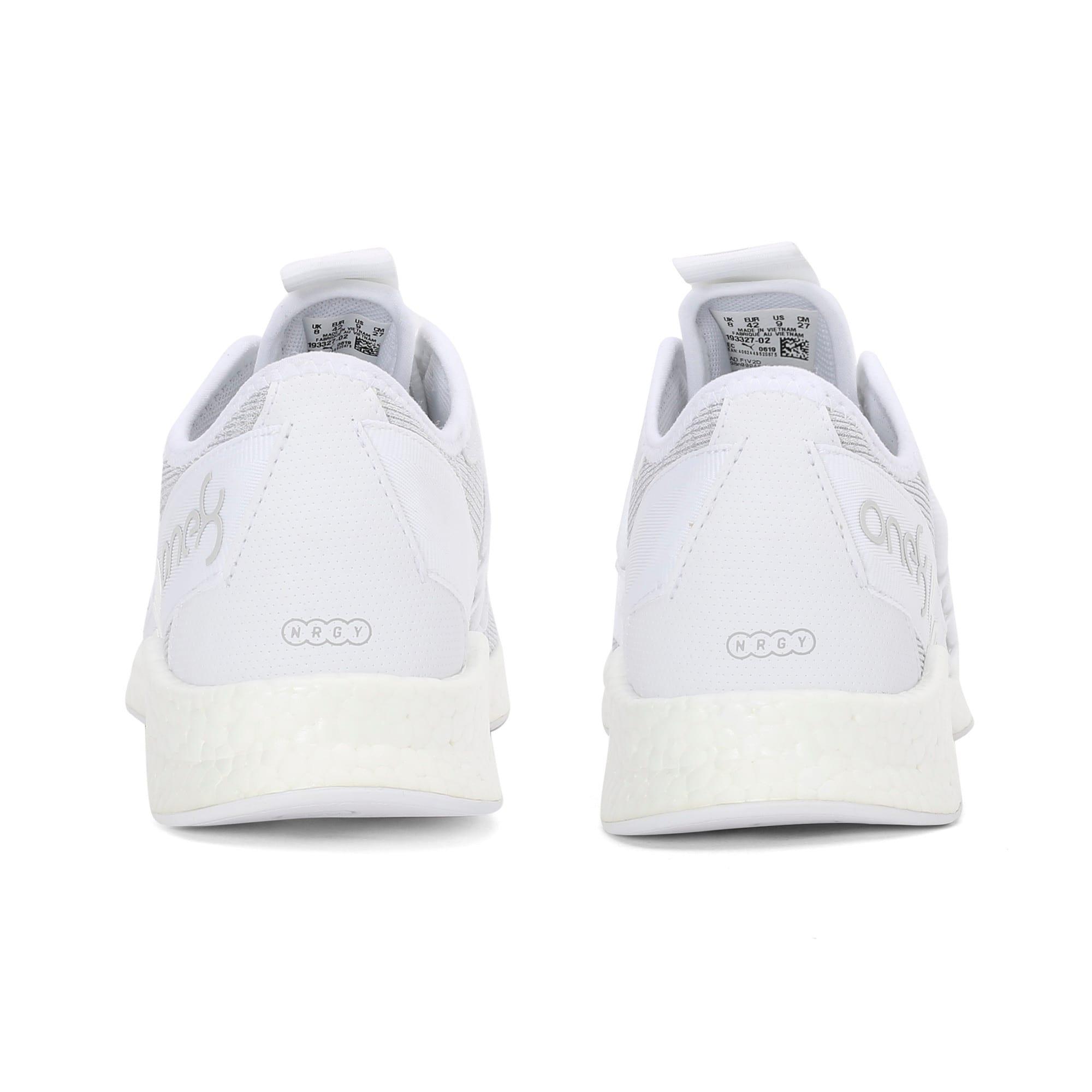 Thumbnail 3 of NRGY Star Knit one8 Unisex Running Shoes, Puma White-Glacier Gray, medium-IND