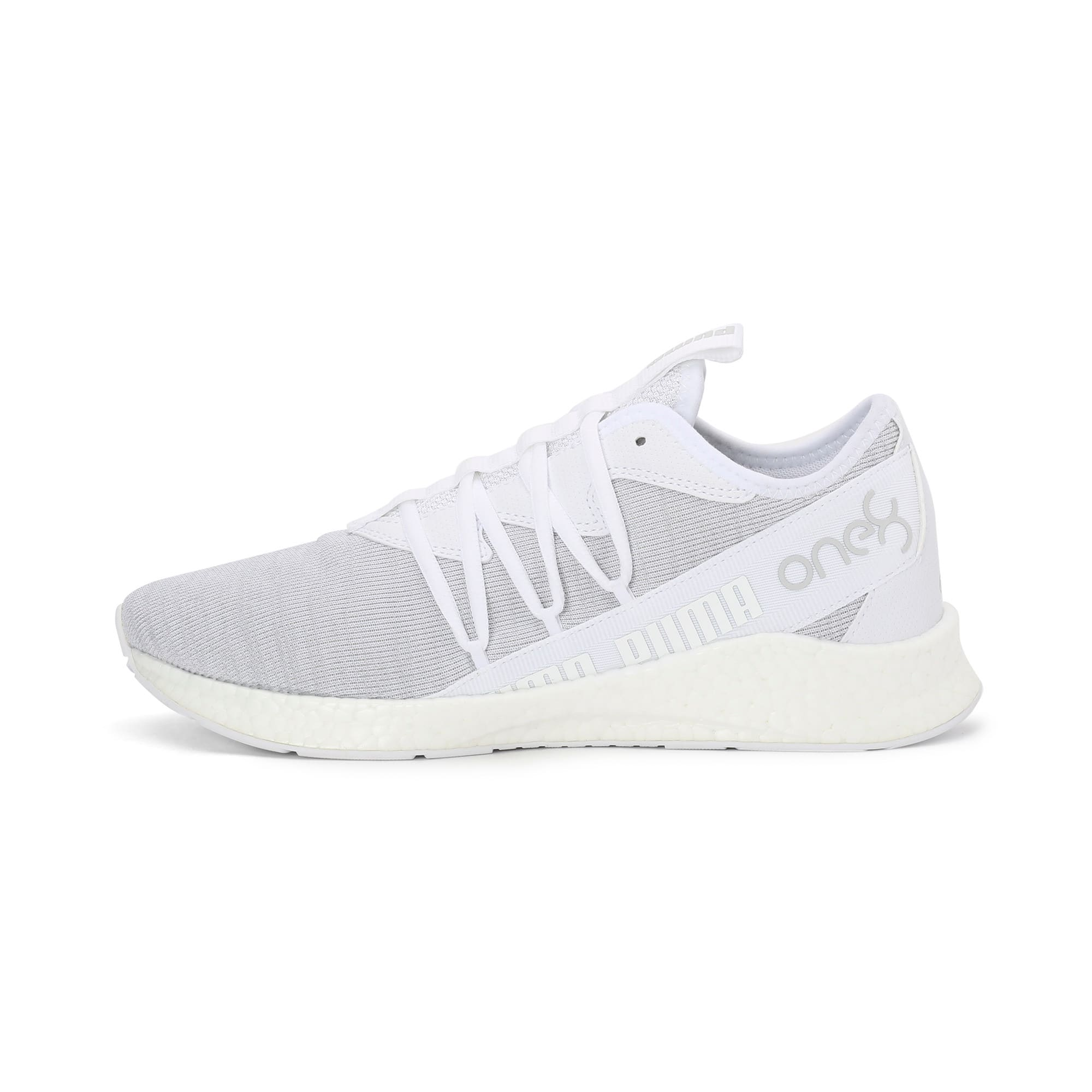 Thumbnail 1 of NRGY Star Knit one8 Unisex Running Shoes, Puma White-Glacier Gray, medium-IND
