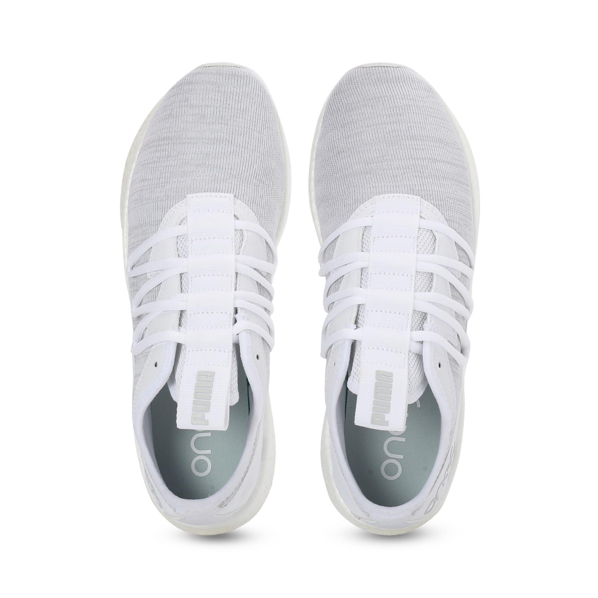 Thumbnail 5 of NRGY Star Knit one8 Unisex Running Shoes, Puma White-Glacier Gray, medium-IND