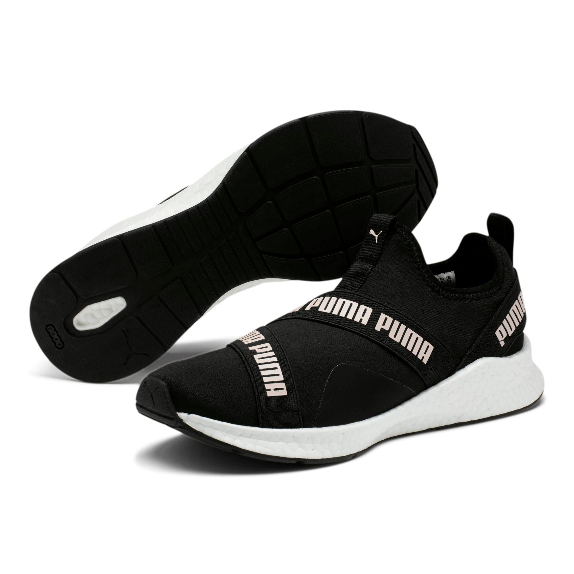 Thumbnail 2 of NRGY Star Slip-On Women's Running Shoes, Black-Pearl-White, medium
