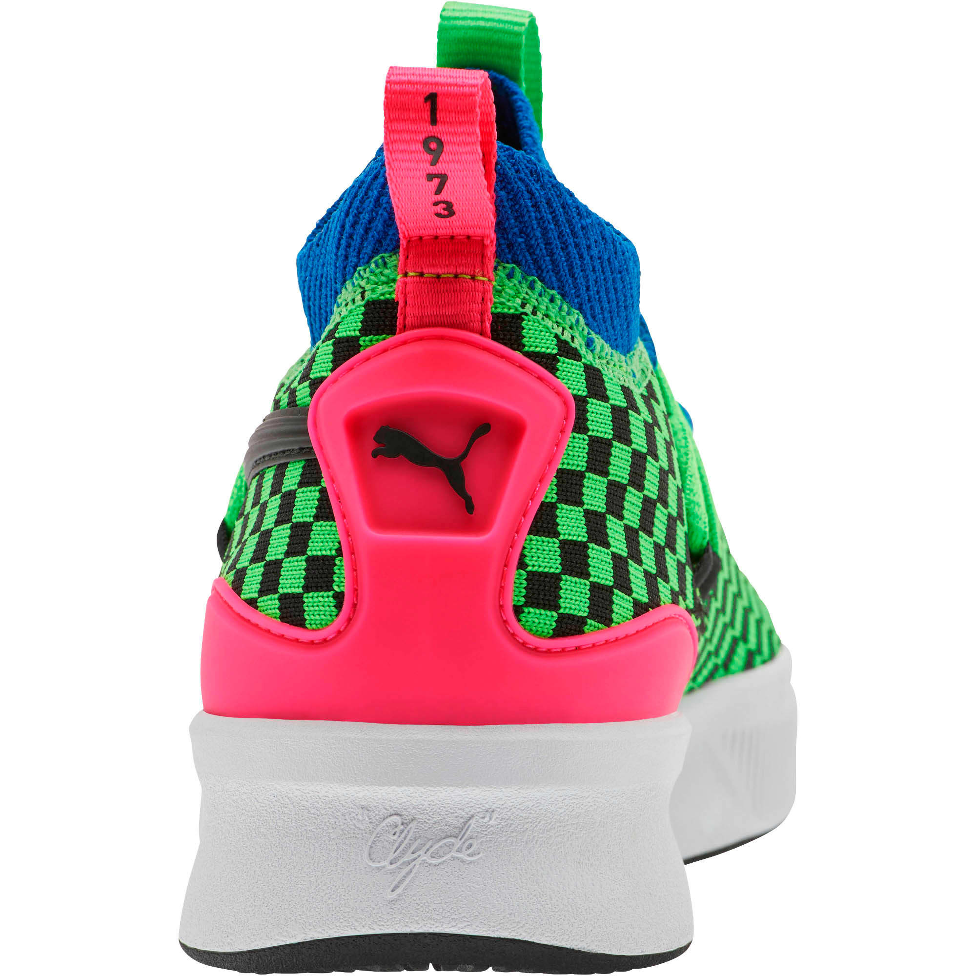 Thumbnail 3 of Clyde Court Summertime Basketball Shoes JR, 802 C Fluro Green PES, medium
