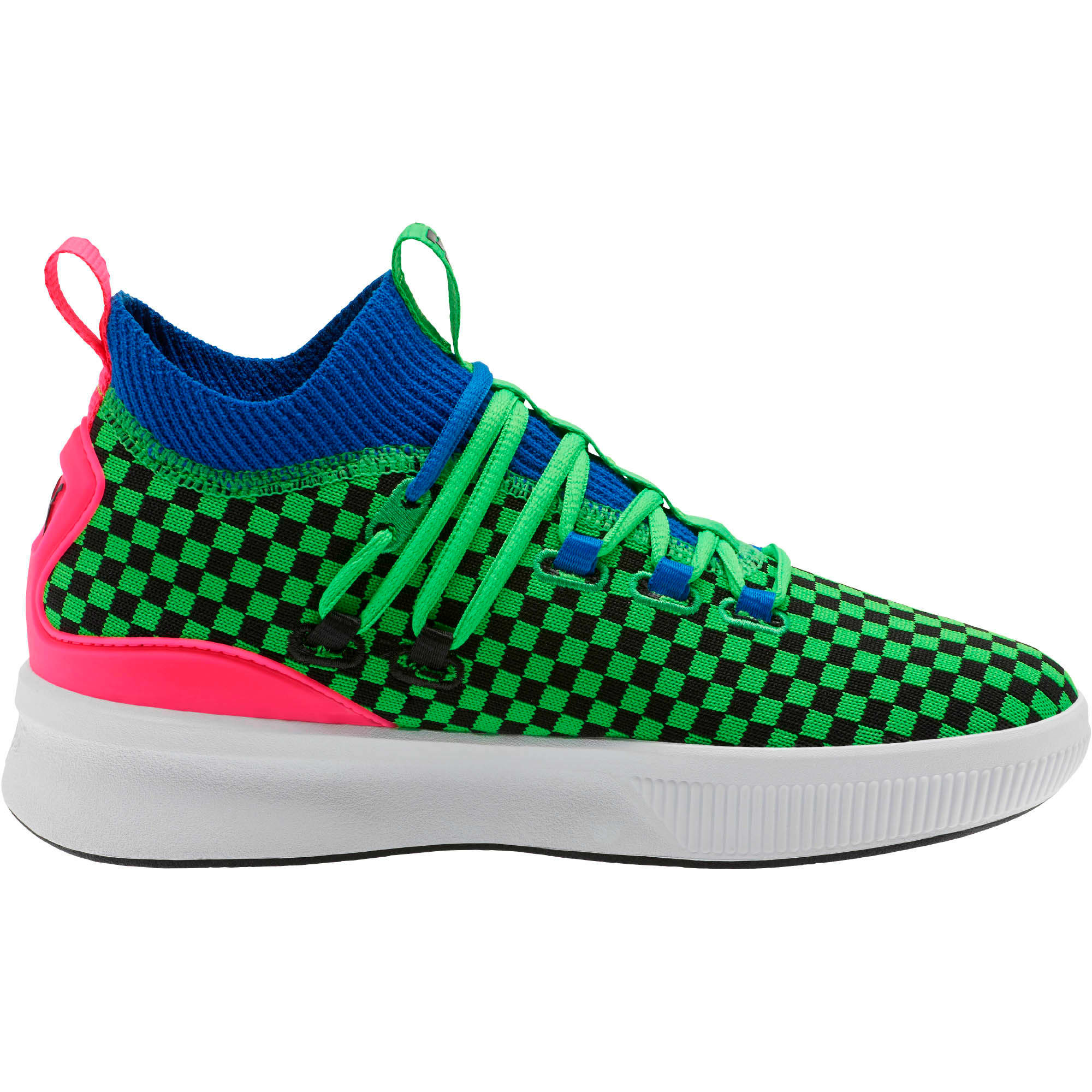 Thumbnail 4 of Clyde Court Summertime Basketball Shoes JR, 802 C Fluro Green PES, medium