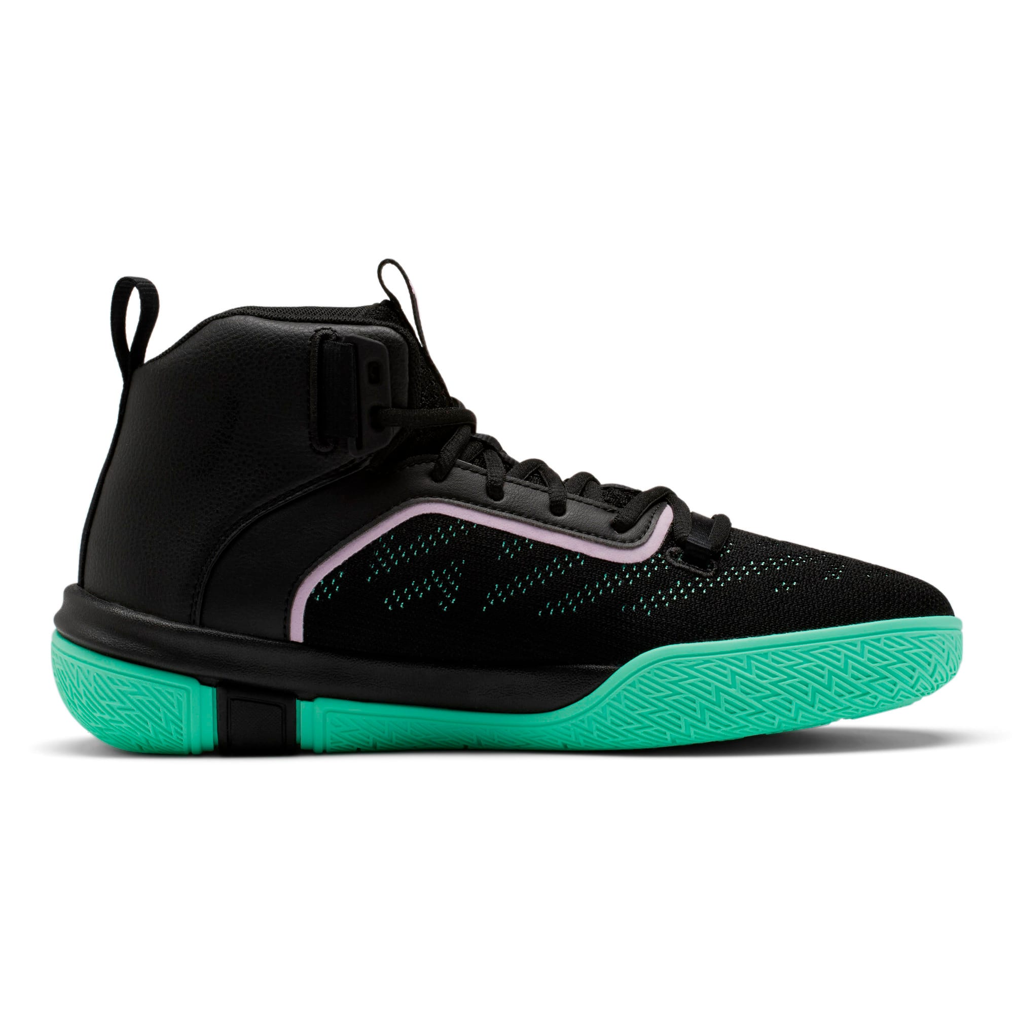 Thumbnail 5 of Legacy Dark Mode Basketball Shoes, Puma Black-Orchid Bloom, medium-IND
