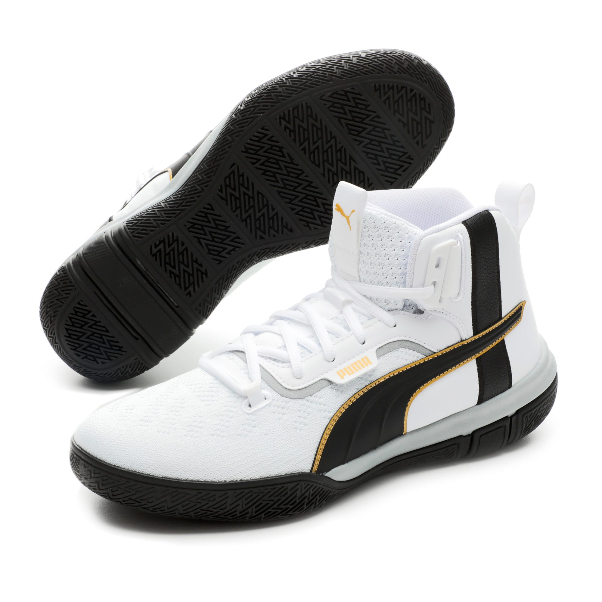 Thumbnail 2 of Legacy '68 Basketball Shoes, Puma Black-Puma White, medium-IND