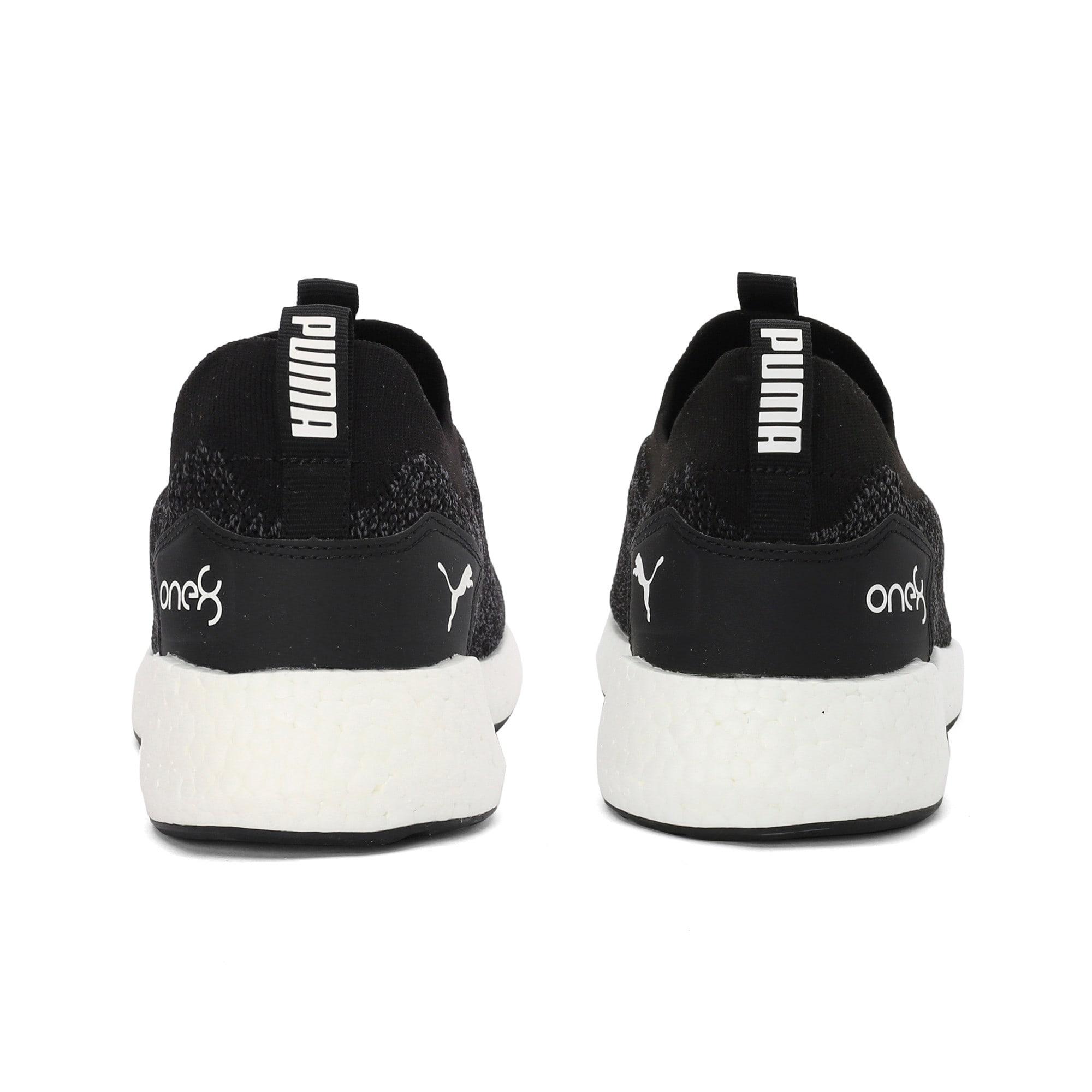Thumbnail 3 of NRGY Neko Slip-On one8 Unisex Running Shoes, Puma Black-Puma White, medium-IND