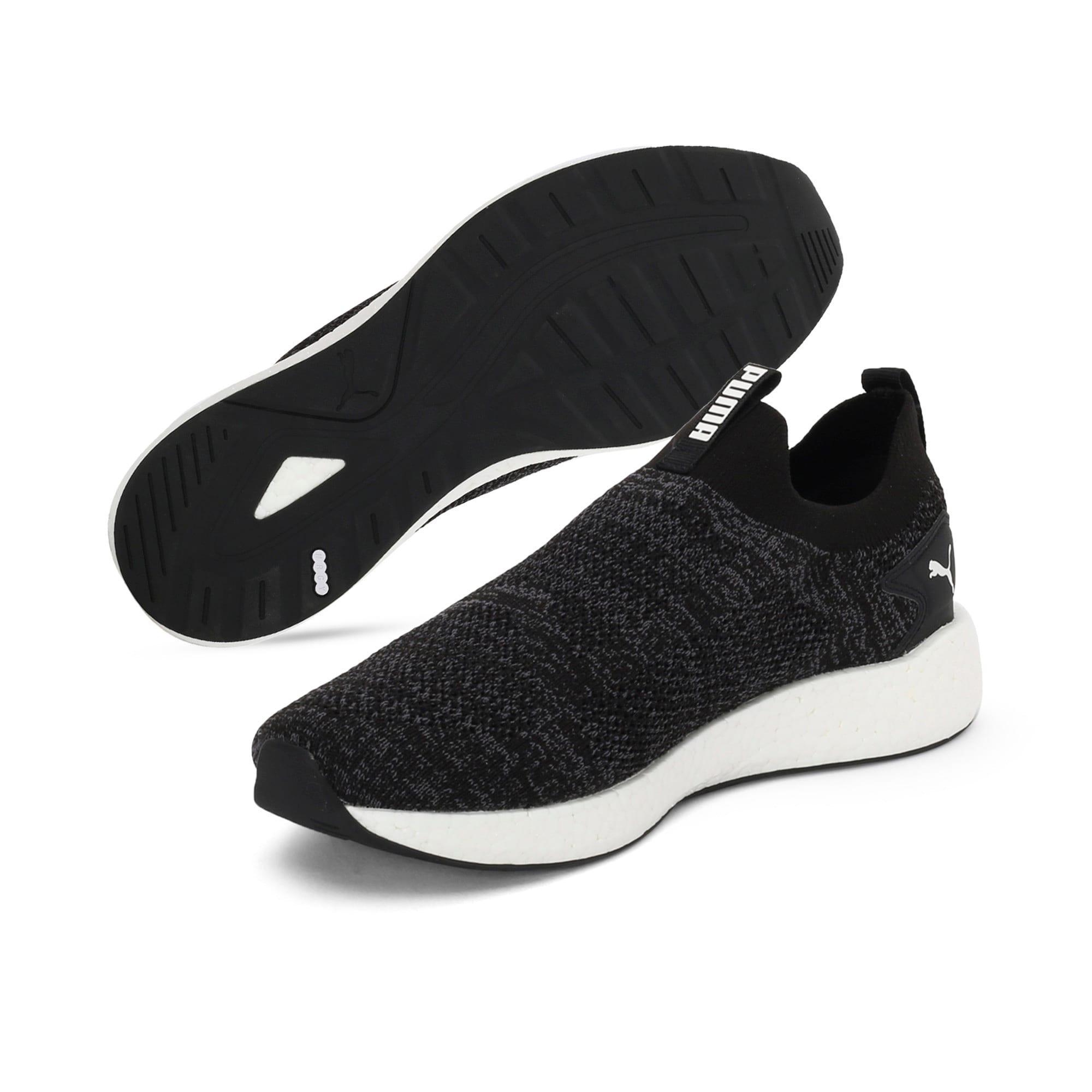 Thumbnail 2 of NRGY Neko Slip-On one8 Unisex Running Shoes, Puma Black-Puma White, medium-IND