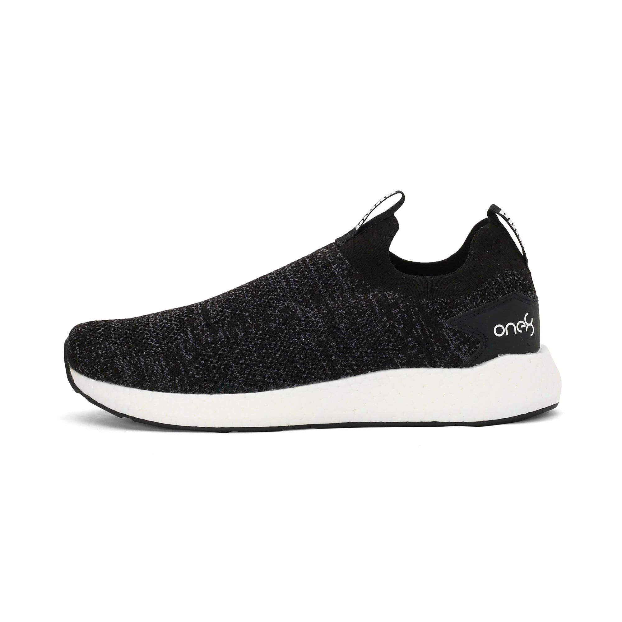 Thumbnail 1 of NRGY Neko Slip-On one8 Unisex Running Shoes, Puma Black-Puma White, medium-IND