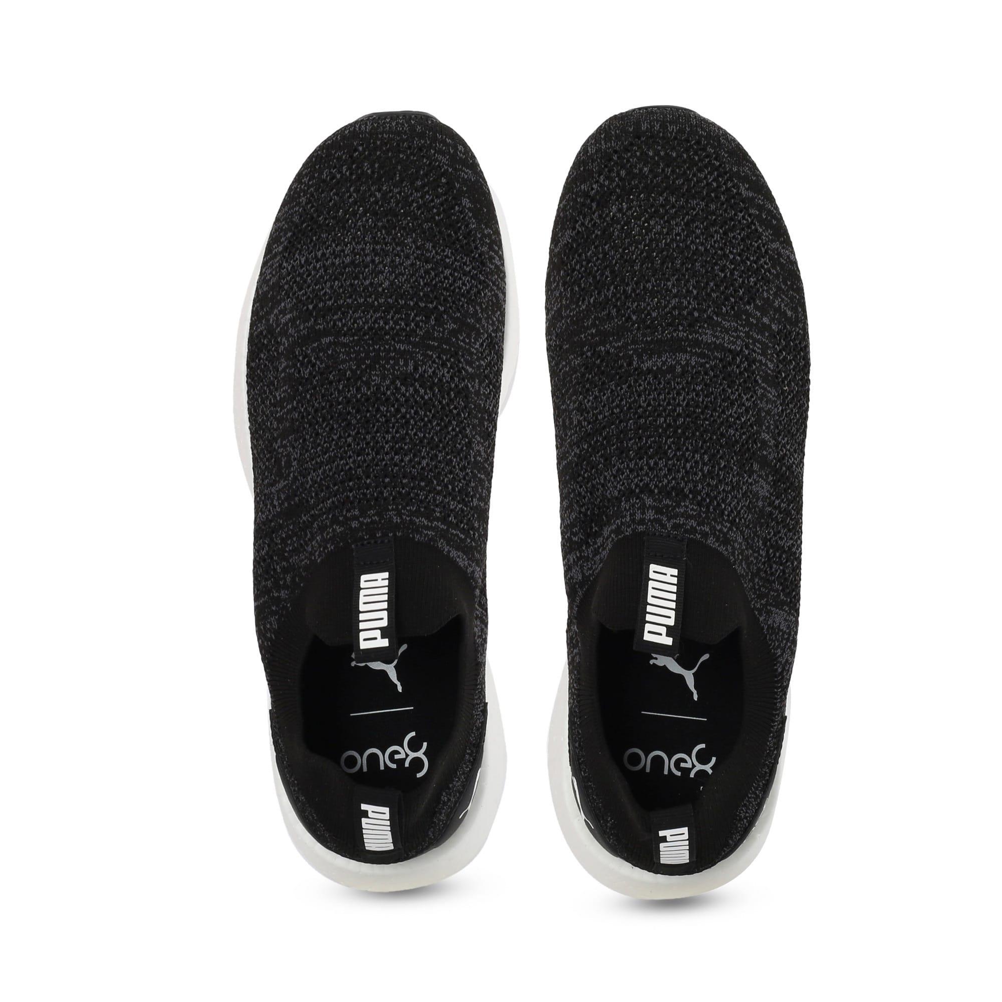 Thumbnail 6 of NRGY Neko Slip-On one8 Unisex Running Shoes, Puma Black-Puma White, medium-IND