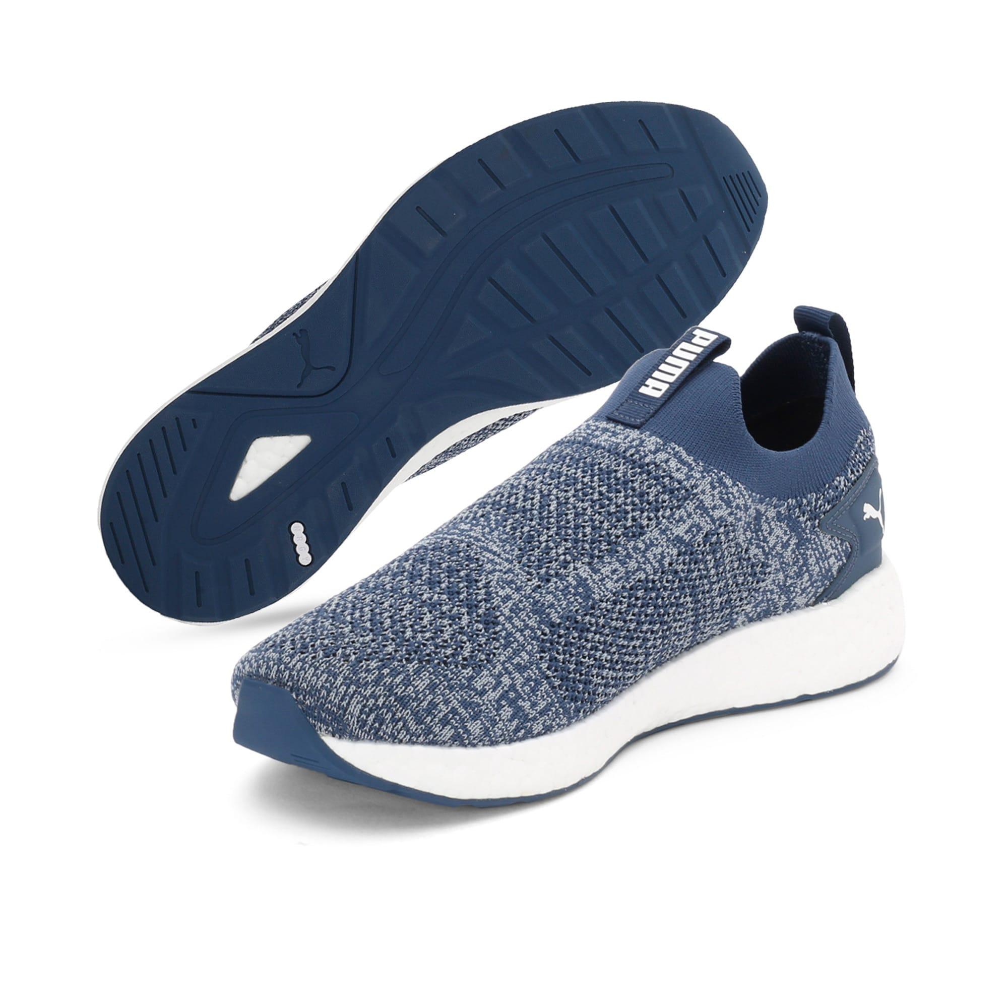 Thumbnail 2 of NRGY Neko Slip-On one8 Unisex Running Shoes, Dark Denim-Puma White, medium-IND
