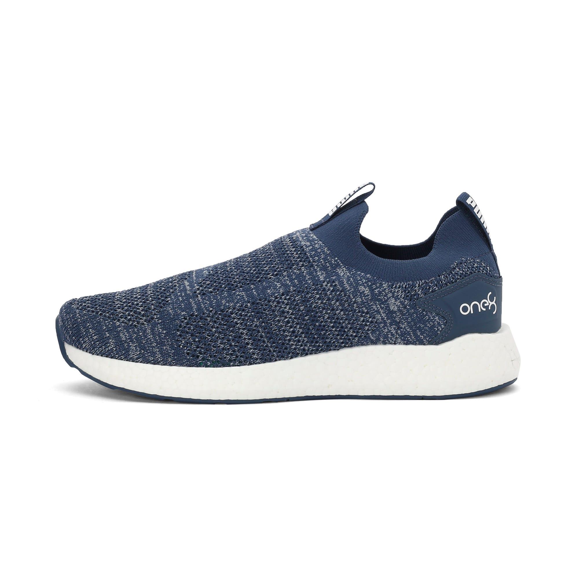 Thumbnail 1 of NRGY Neko Slip-On one8 Unisex Running Shoes, Dark Denim-Puma White, medium-IND