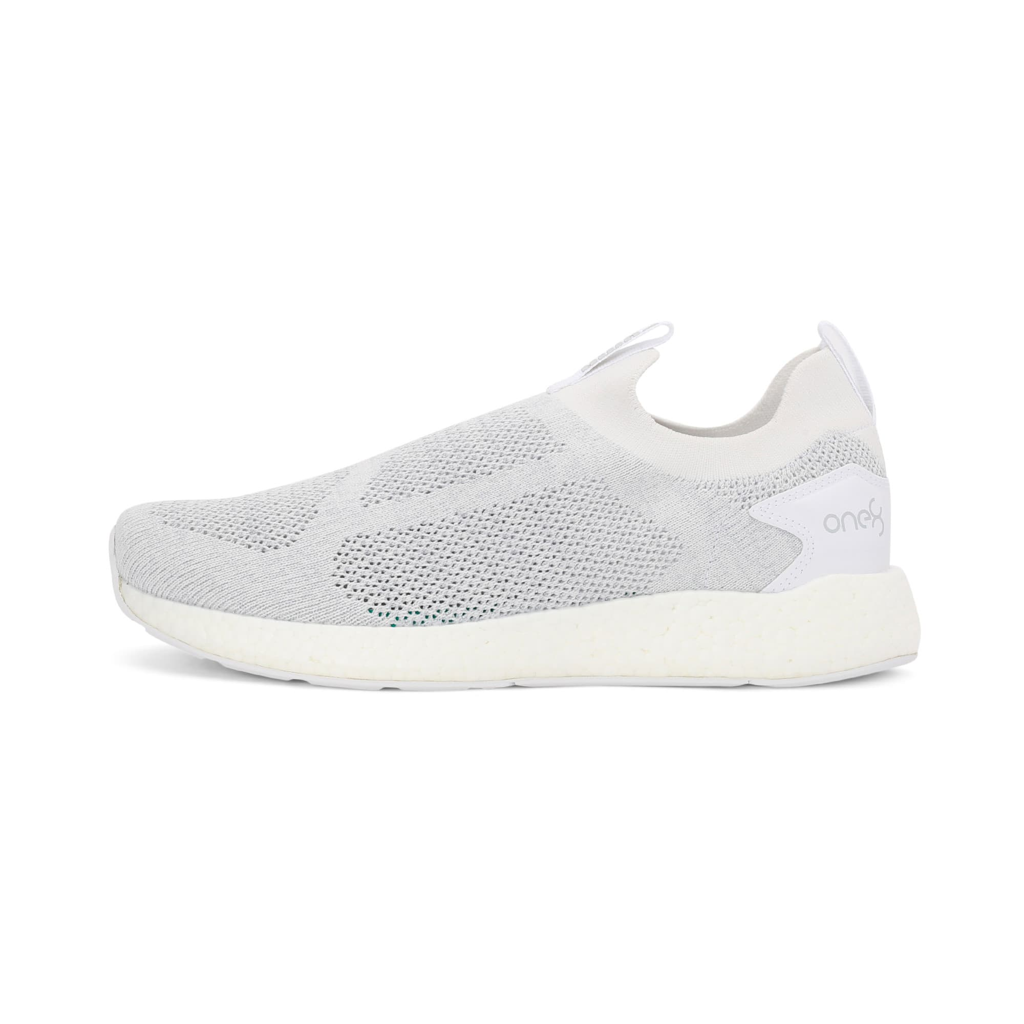 Thumbnail 1 of NRGY Neko Slip-On one8 Unisex Running Shoes, Puma White-Glacier Gray, medium-IND