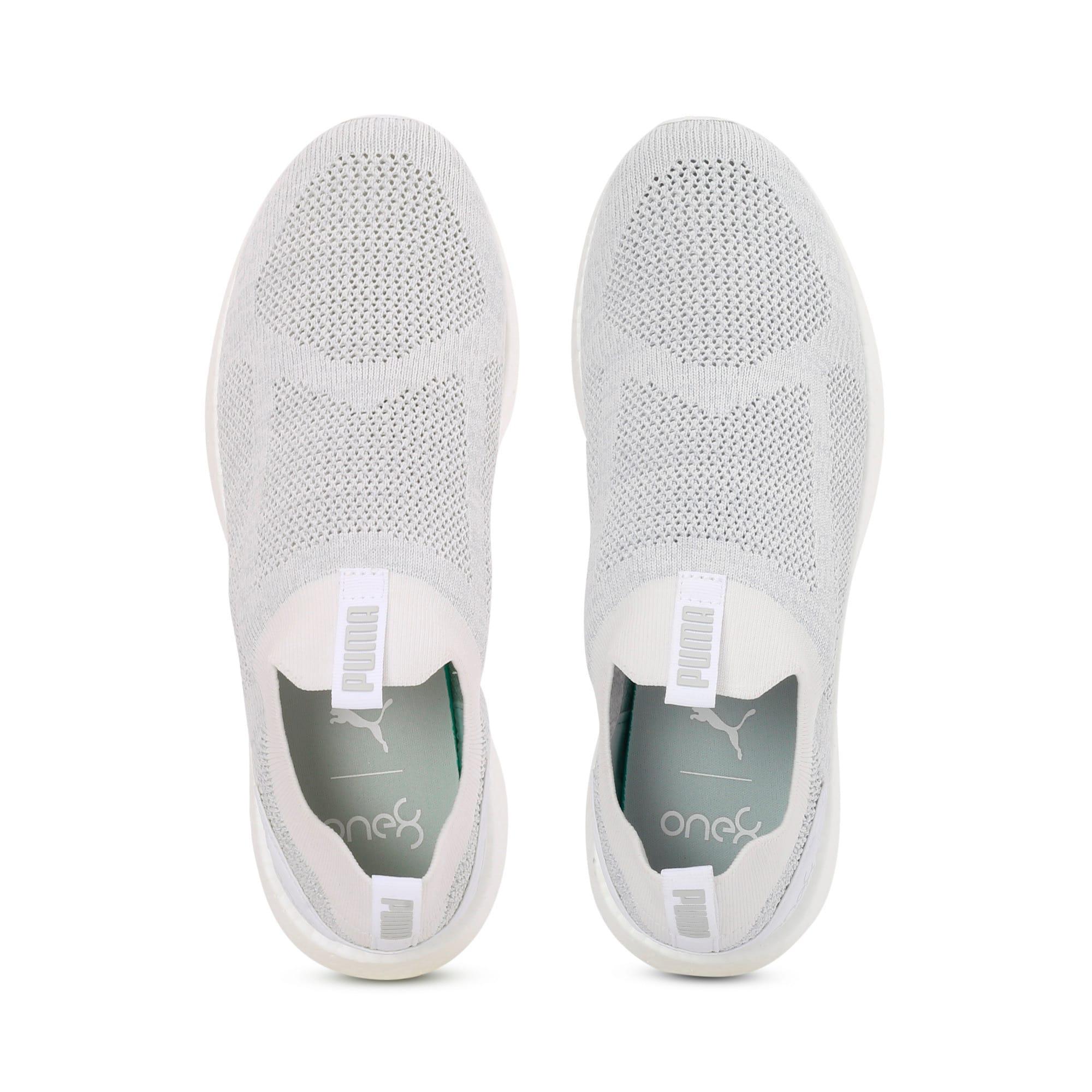 Thumbnail 6 of NRGY Neko Slip-On one8 Unisex Running Shoes, Puma White-Glacier Gray, medium-IND