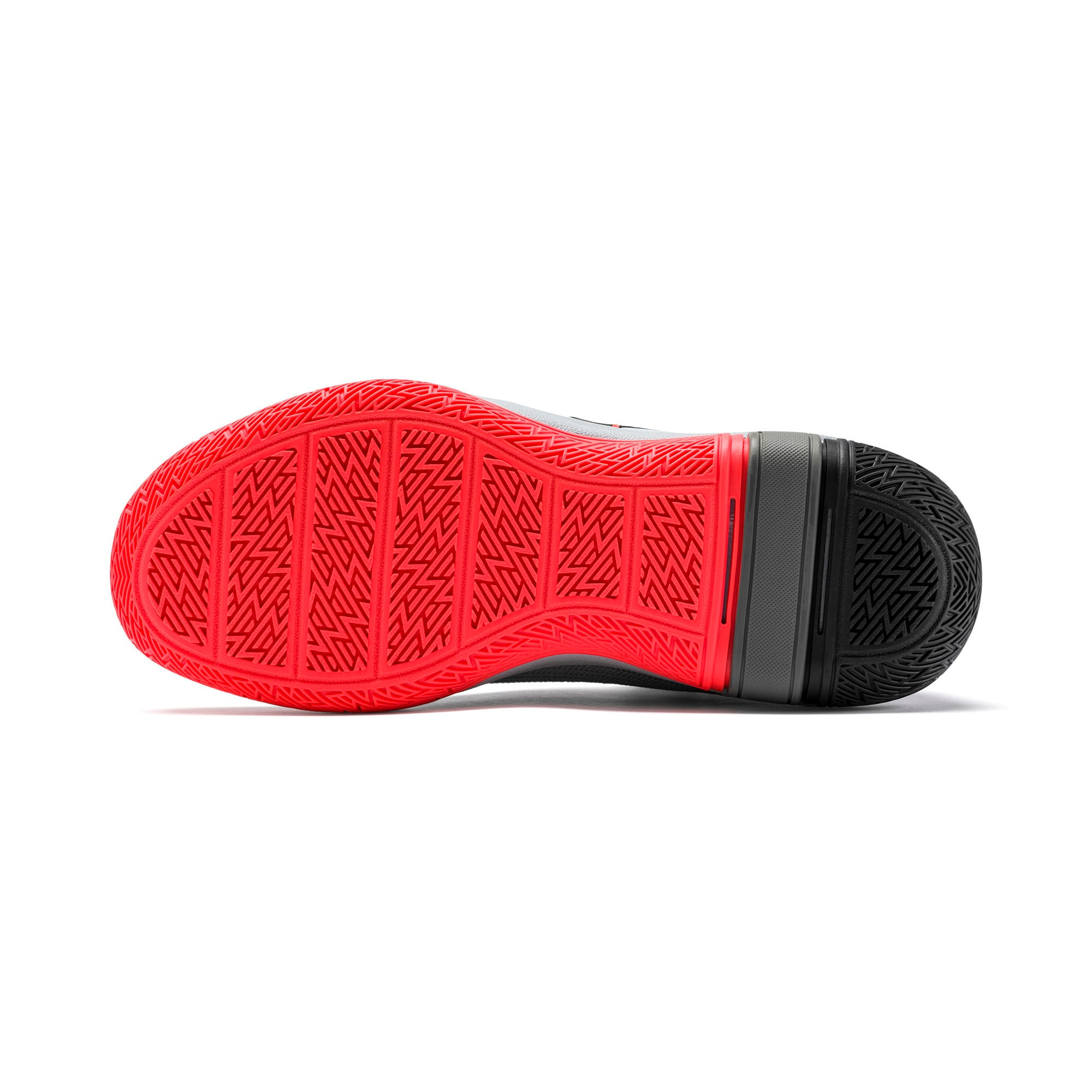 Thumbnail 4 of Legacy Disrupt Basketball Shoes JR, Puma Black-Red Blast, medium