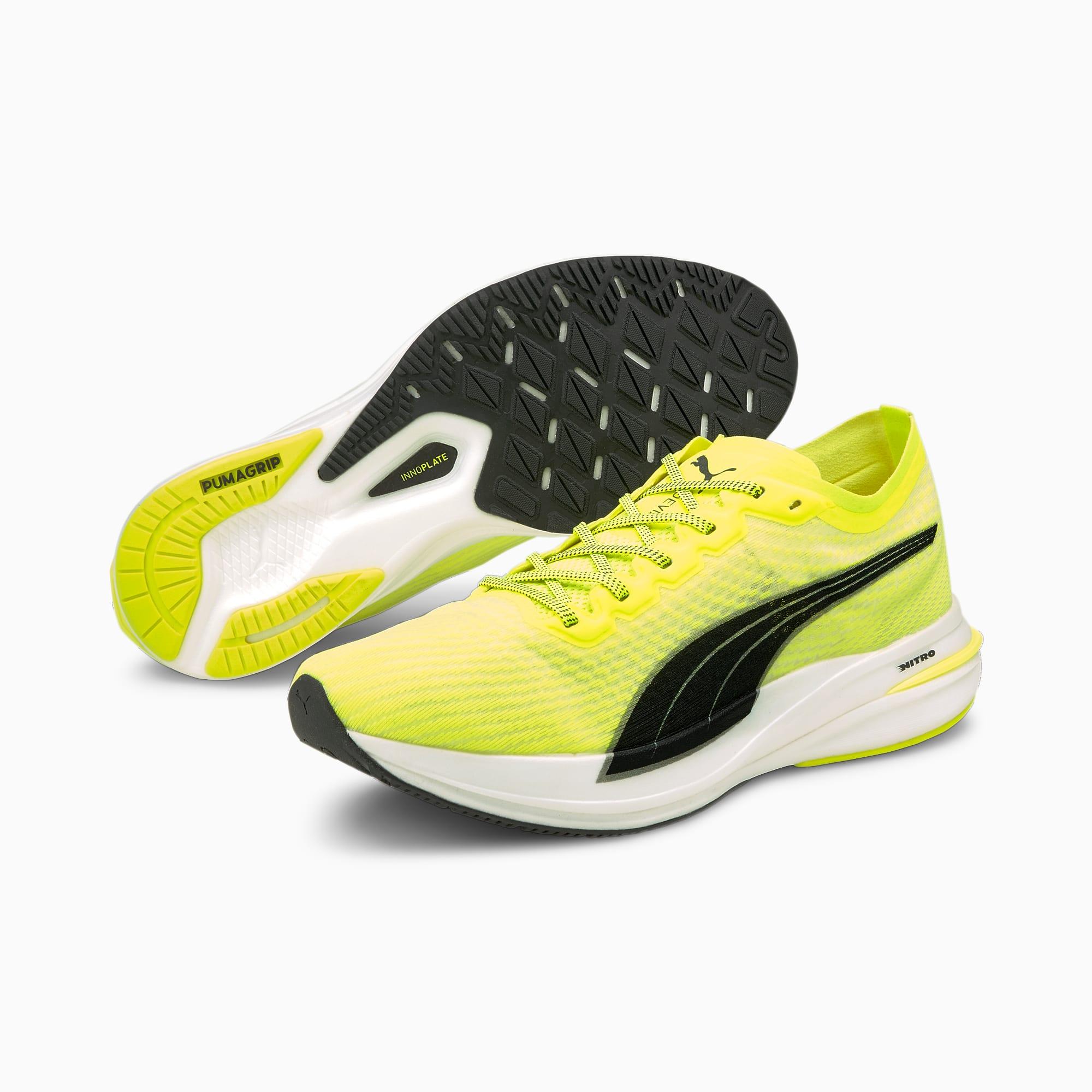 Deviate Nitro Women's Running Shoes, Yellow Alert-Puma Black, extralarge-IND