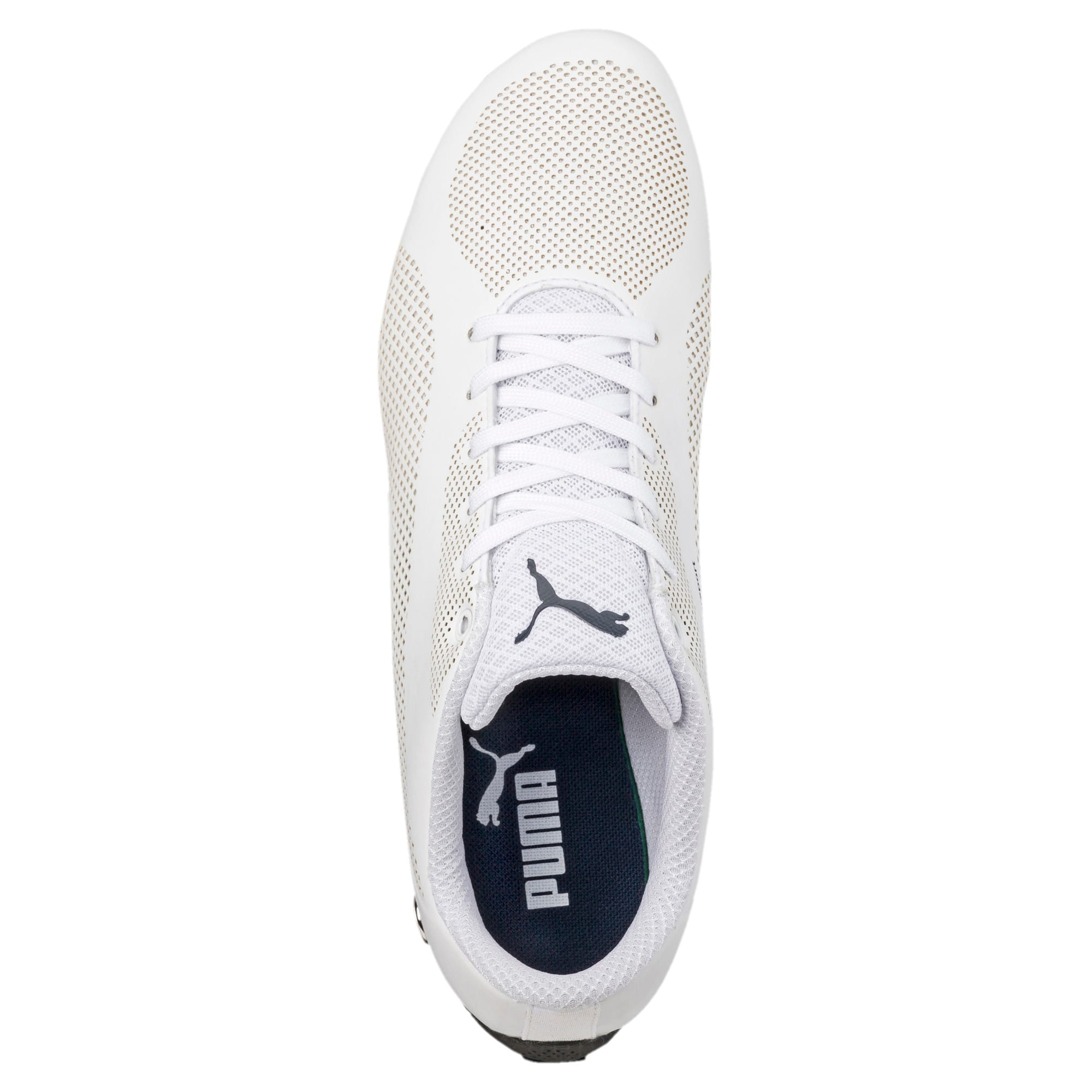 BMW Motorsport Drift Cat 5 Ultra Shoes, Puma Wht-Team Blu-Hgh Rsk Rd, large