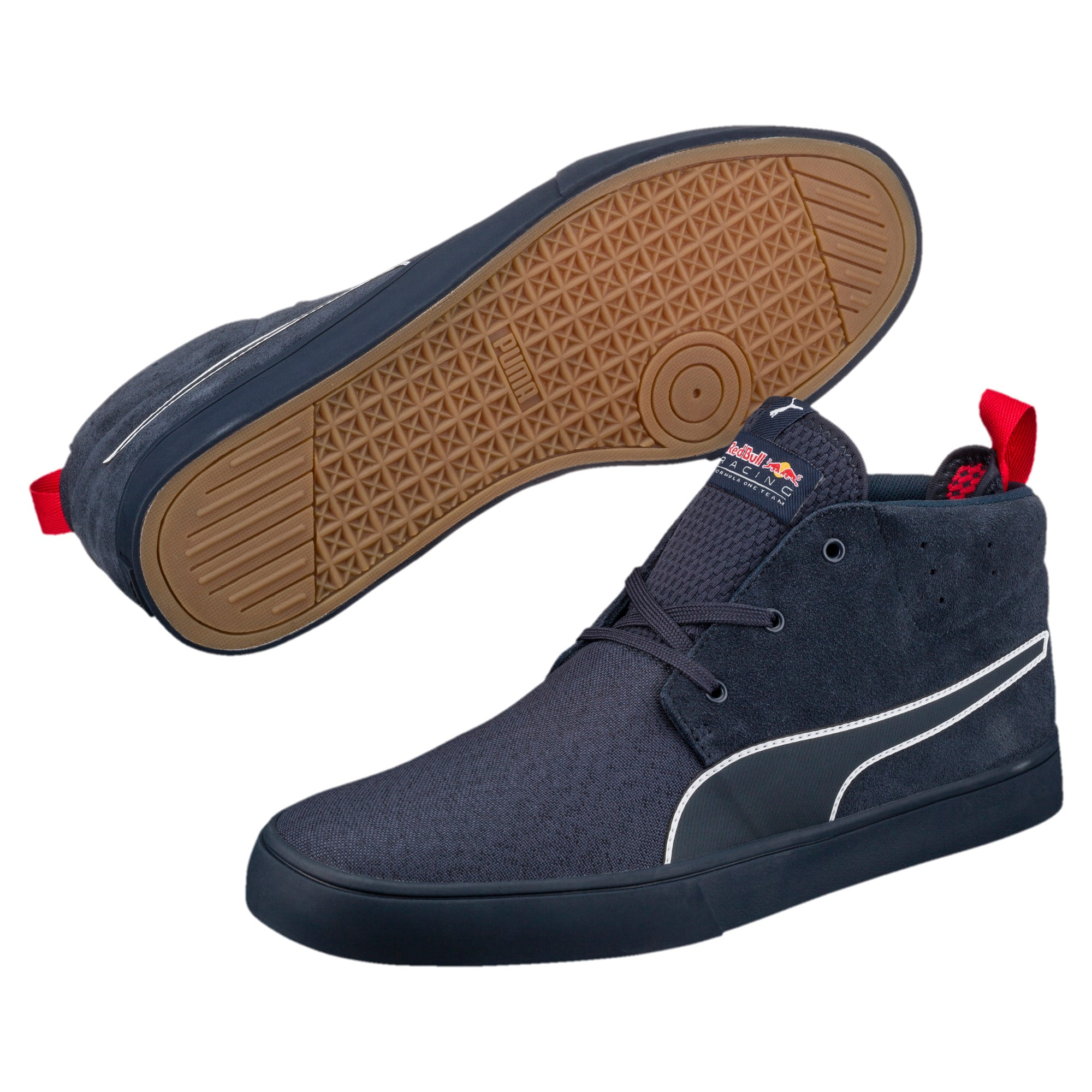 Thumbnail 2 of Red Bull Racing Vulc Desert Boots, Total Eclipse-Chinese Red, medium-IND