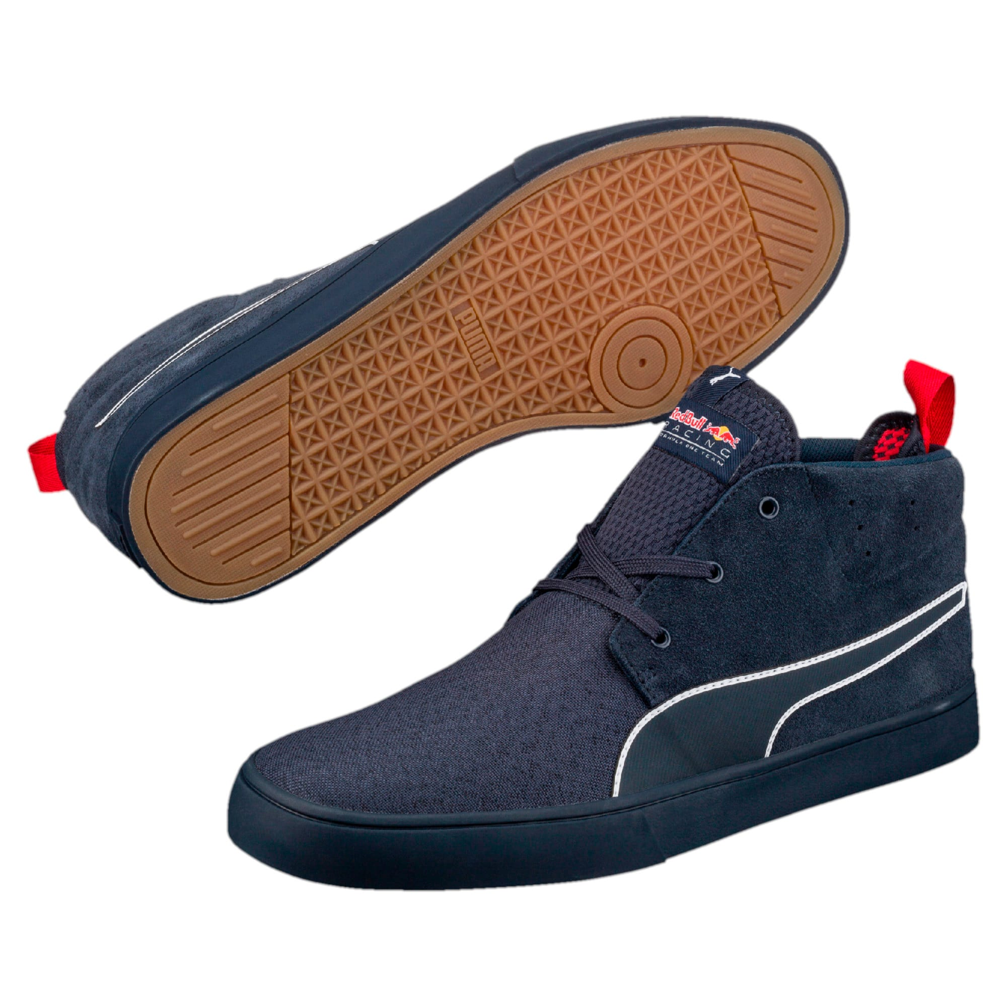 Thumbnail 6 of Red Bull Racing Vulc Desert Boots, Total Eclipse-Chinese Red, medium-IND