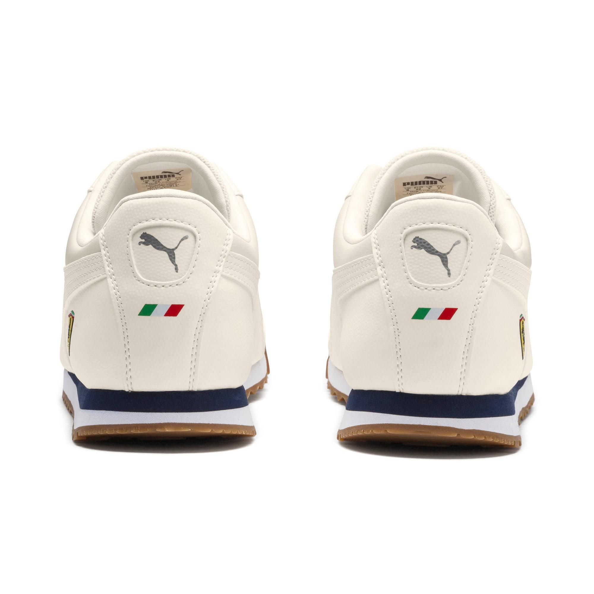 Thumbnail 4 of Scuderia Ferrari Roma Men's Sneakers, Whisper White-Whisper White, medium