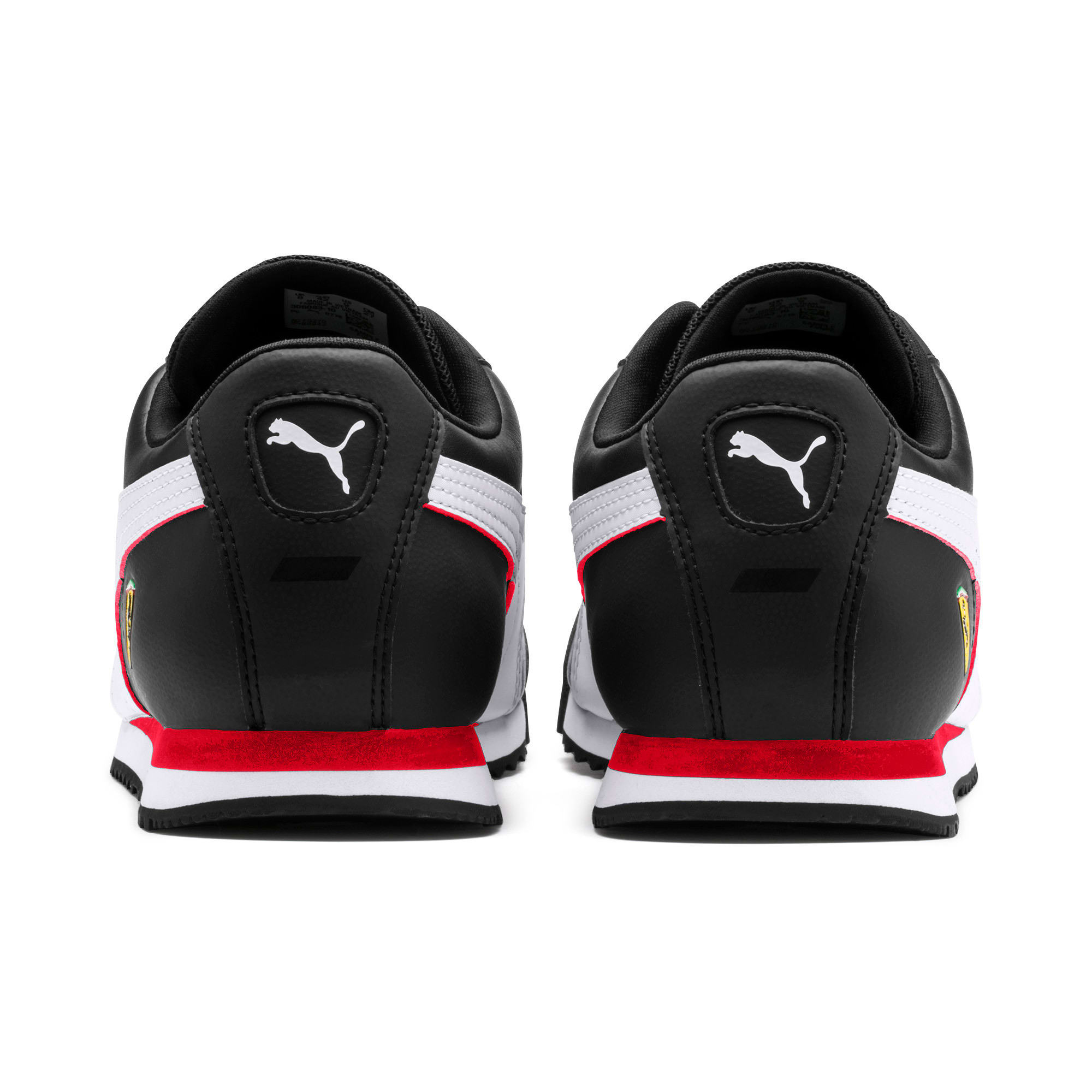 Thumbnail 4 of Scuderia Ferrari Roma Men's Sneakers, Black-White-Rosso Corsa, medium