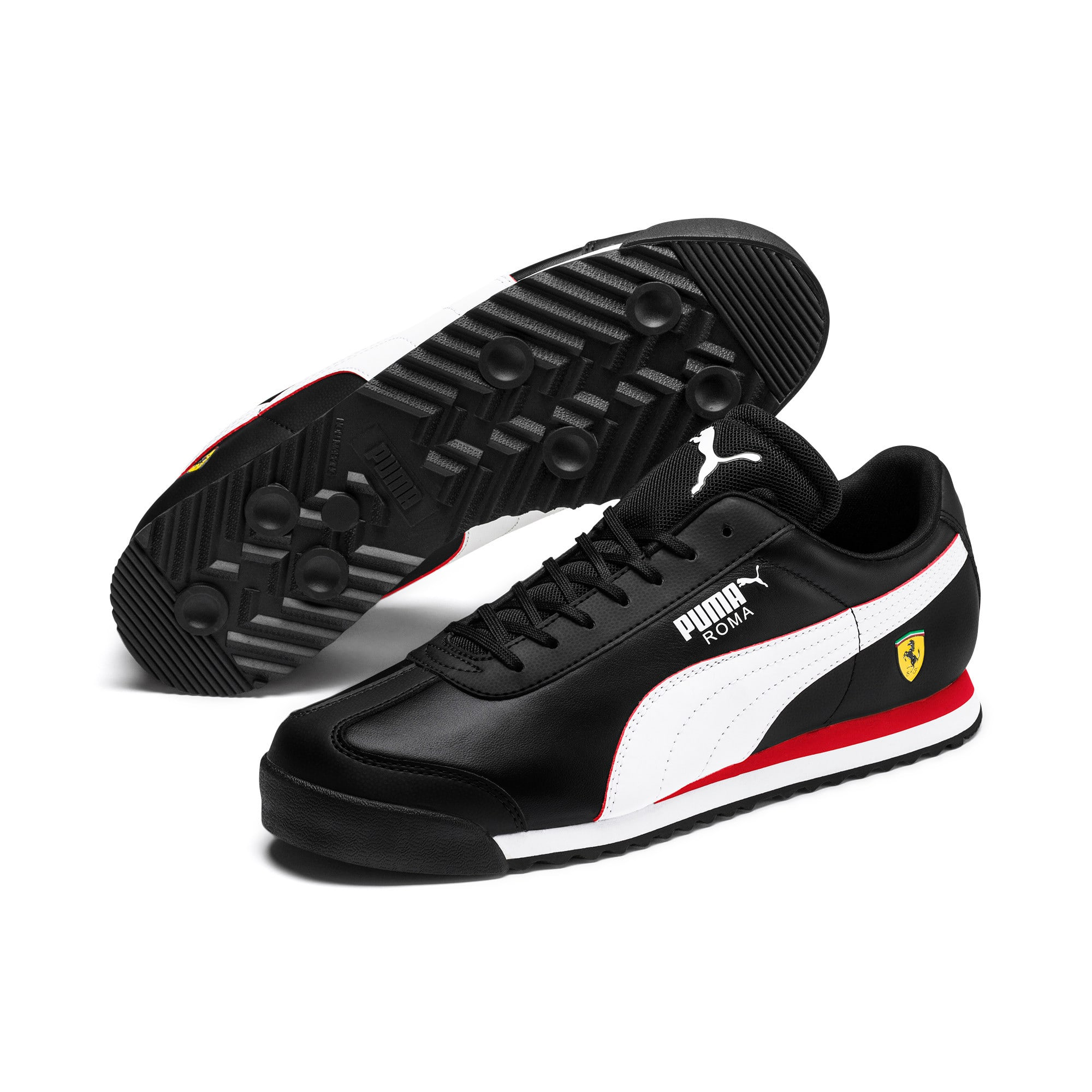 Thumbnail 3 of Scuderia Ferrari Roma Men's Sneakers, Black-White-Rosso Corsa, medium
