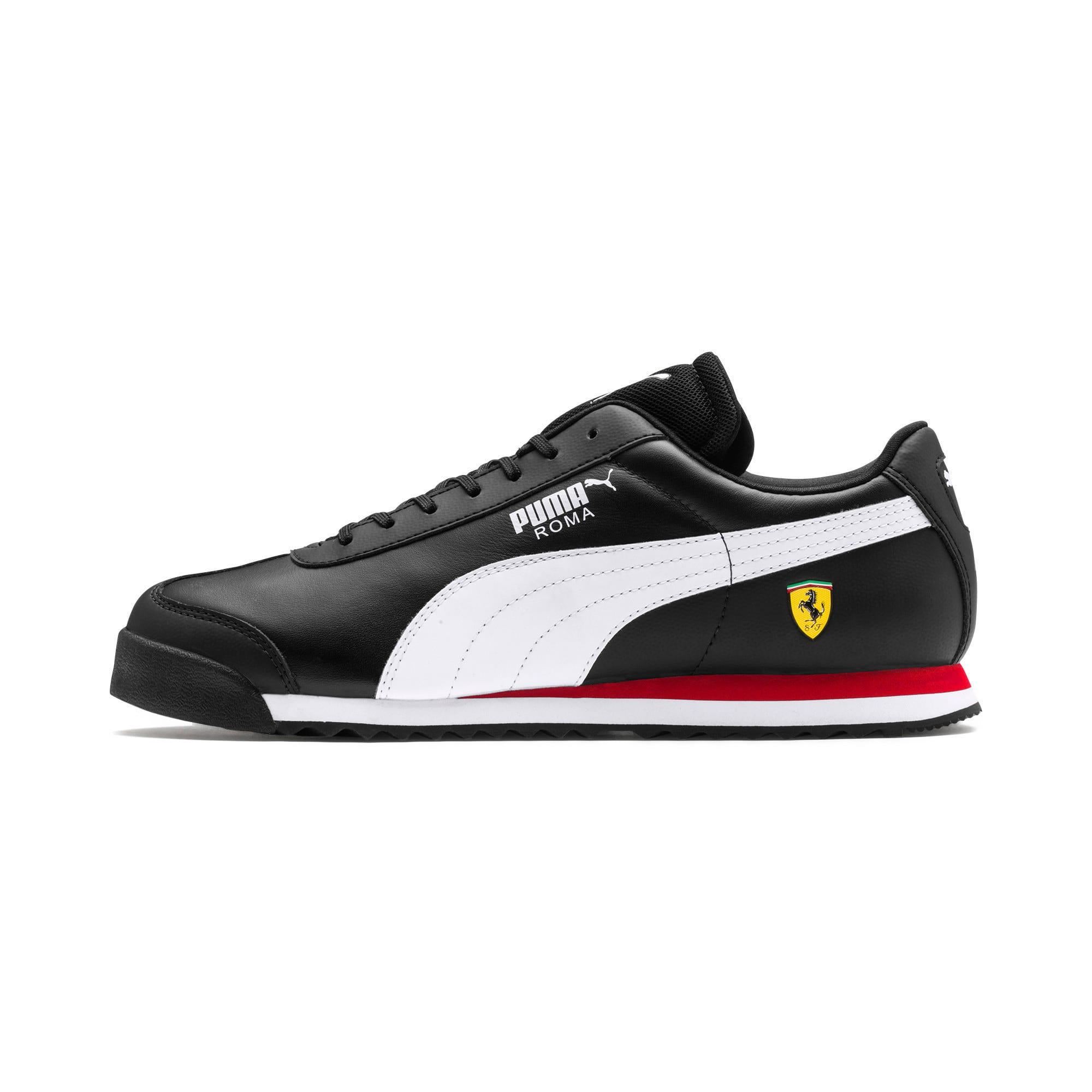 Thumbnail 1 of Ferrari Roma Men's Trainers, Black-White-Rosso Corsa, medium-IND