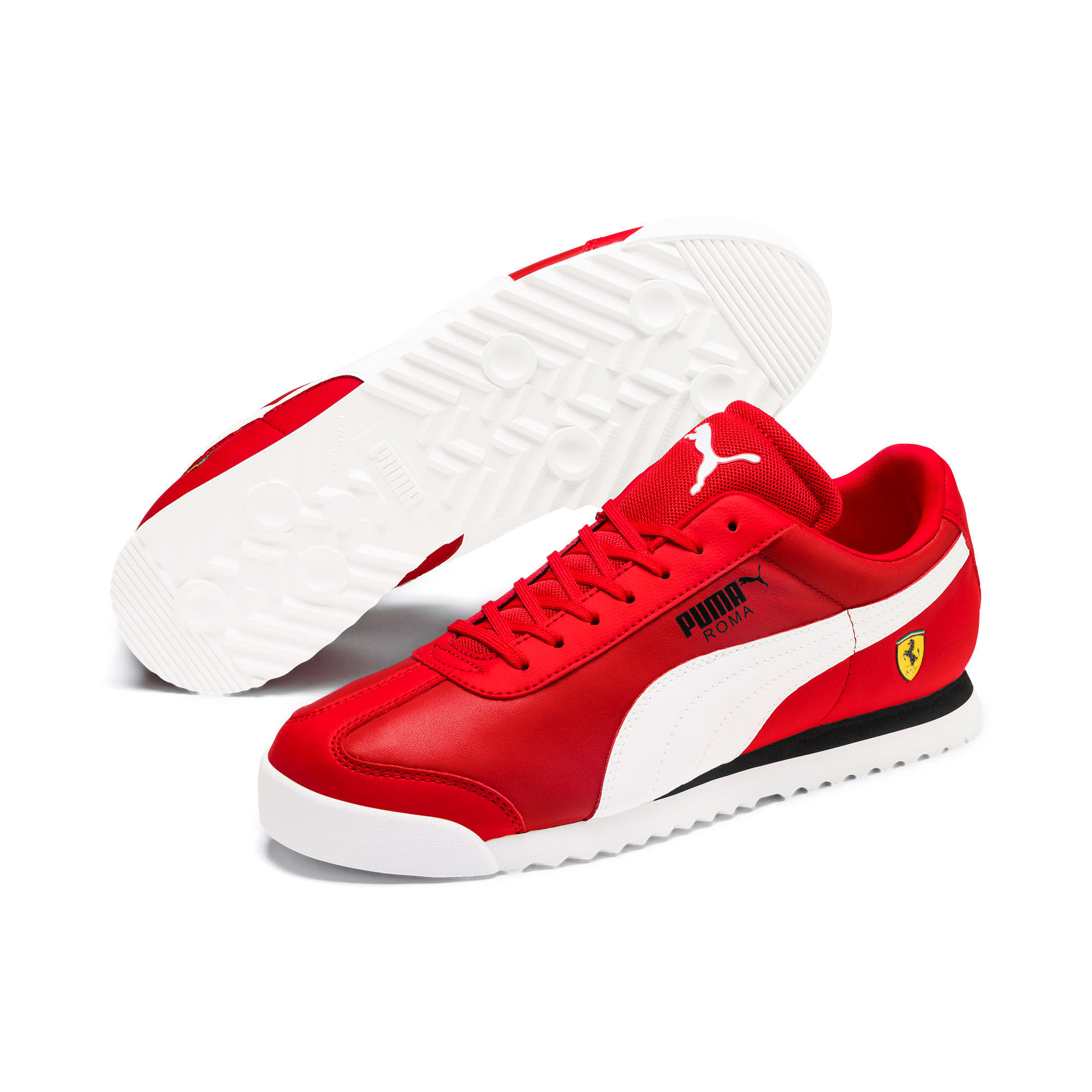 Miniatura 3 de Zapatos deportivos Scuderia Ferrari Roma para hombre, Rosso Corsa-White-Black, mediano
