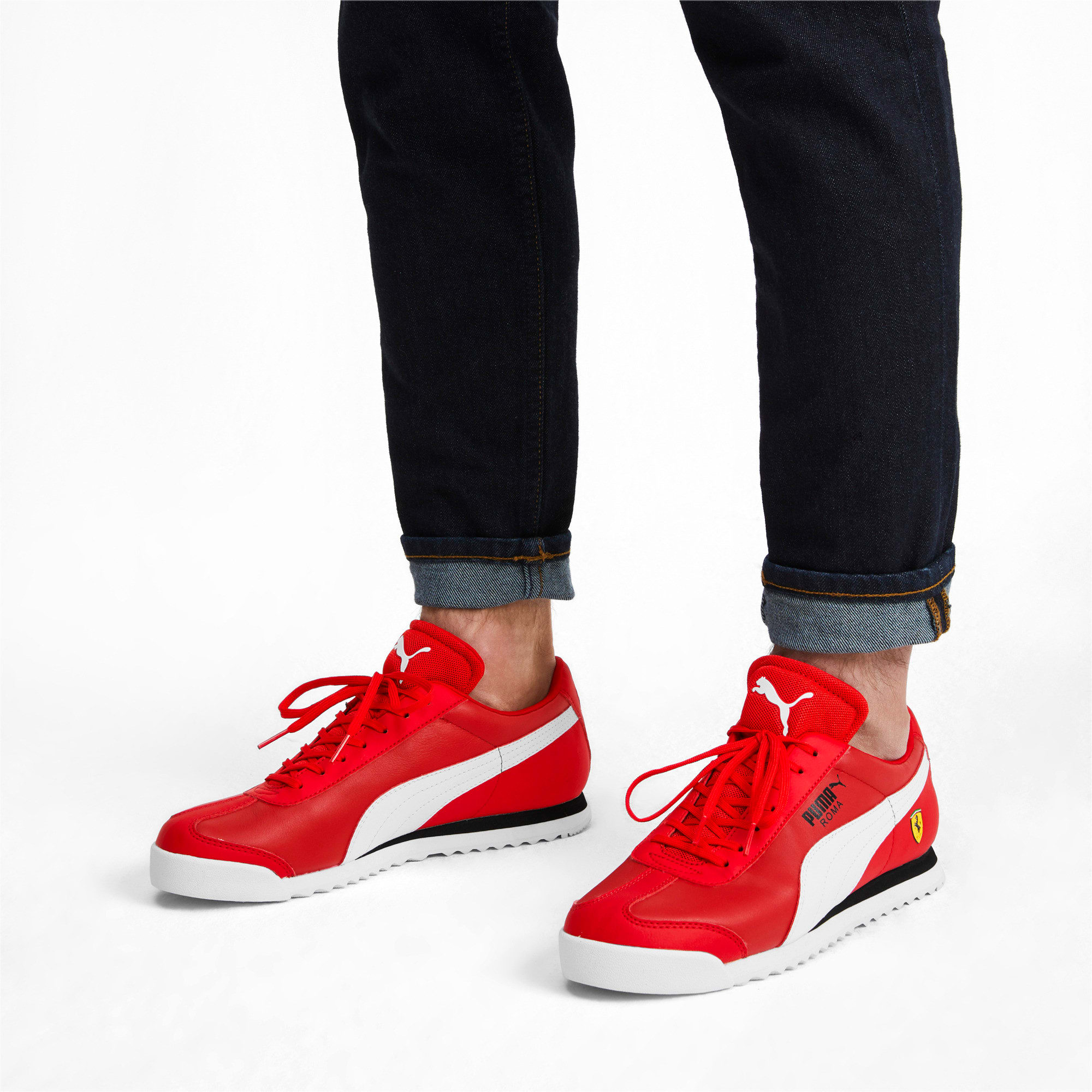 Thumbnail 2 of Scuderia Ferrari Roma Men's Sneakers, Rosso Corsa-White-Black, medium