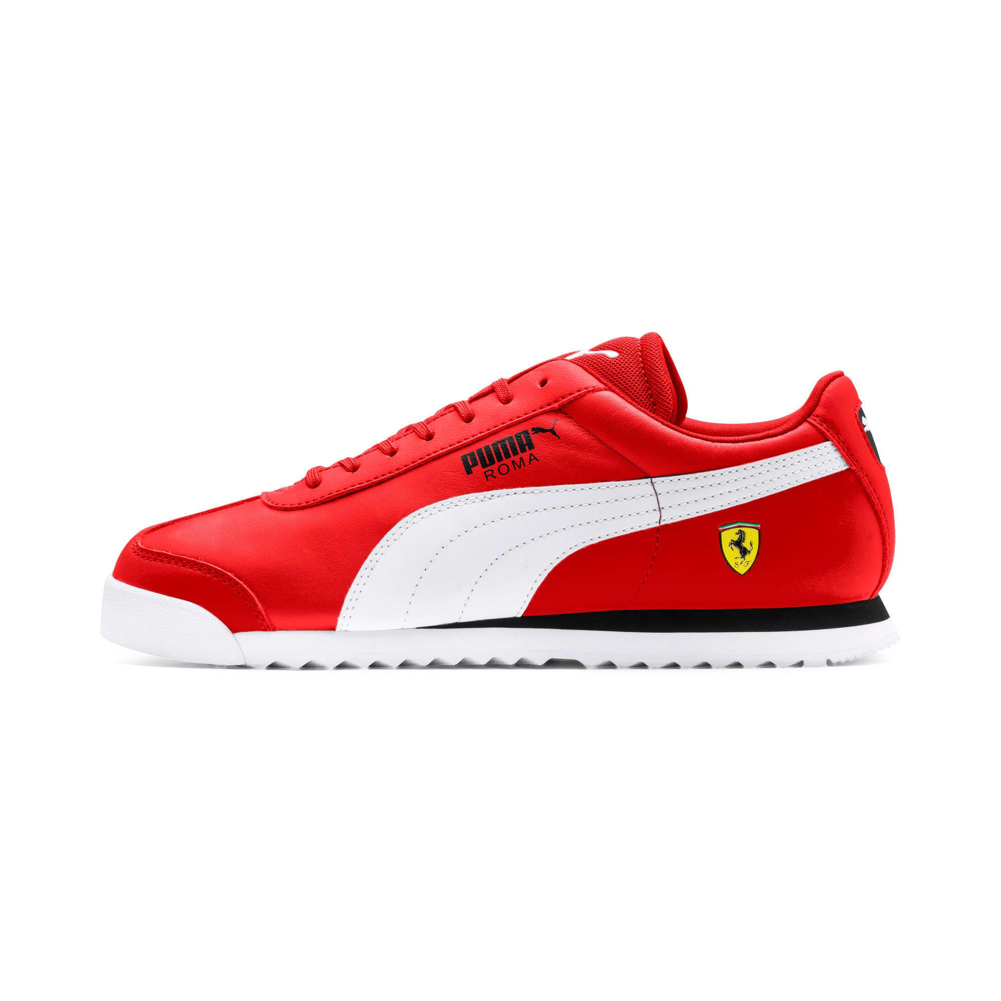 Miniatura 1 de Zapatos deportivos Scuderia Ferrari Roma para hombre, Rosso Corsa-White-Black, mediano