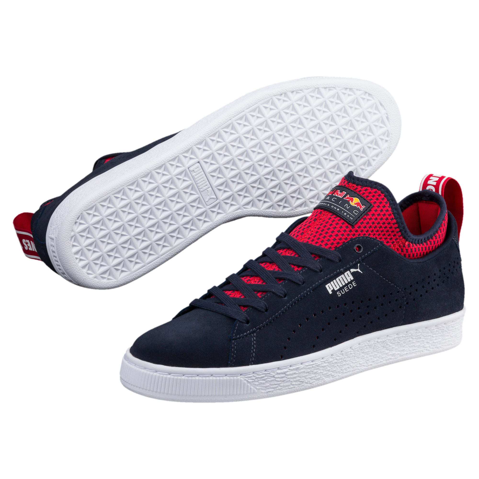 Thumbnail 2 of Red Bull Racing Suede Trainers, NIGHT SKY-Freesia-Chinese Rd, medium-IND
