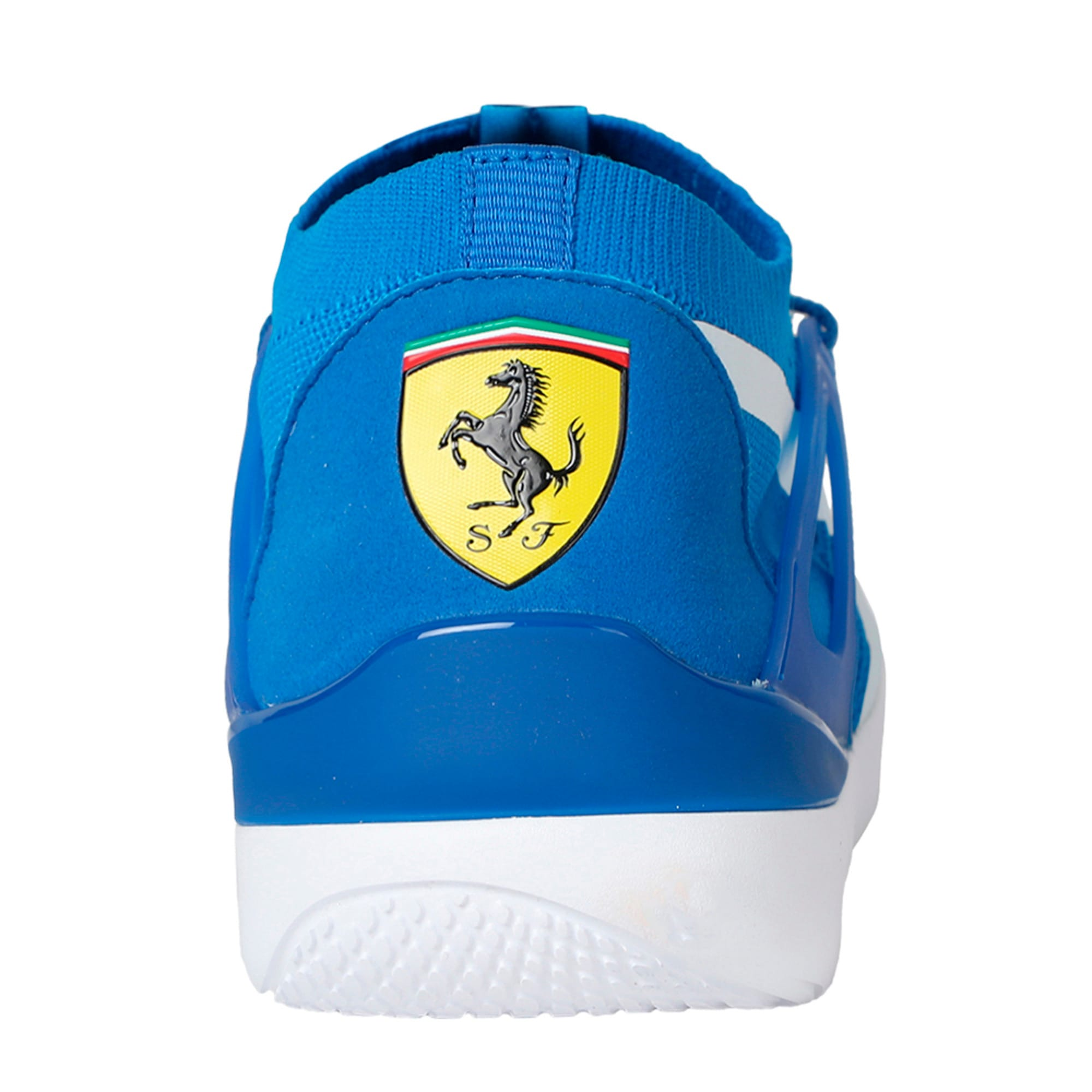 Thumbnail 3 of Ferrari Evo Cat Sock Lace Trainers, Turkish Sea-Puma White-White, medium-IND