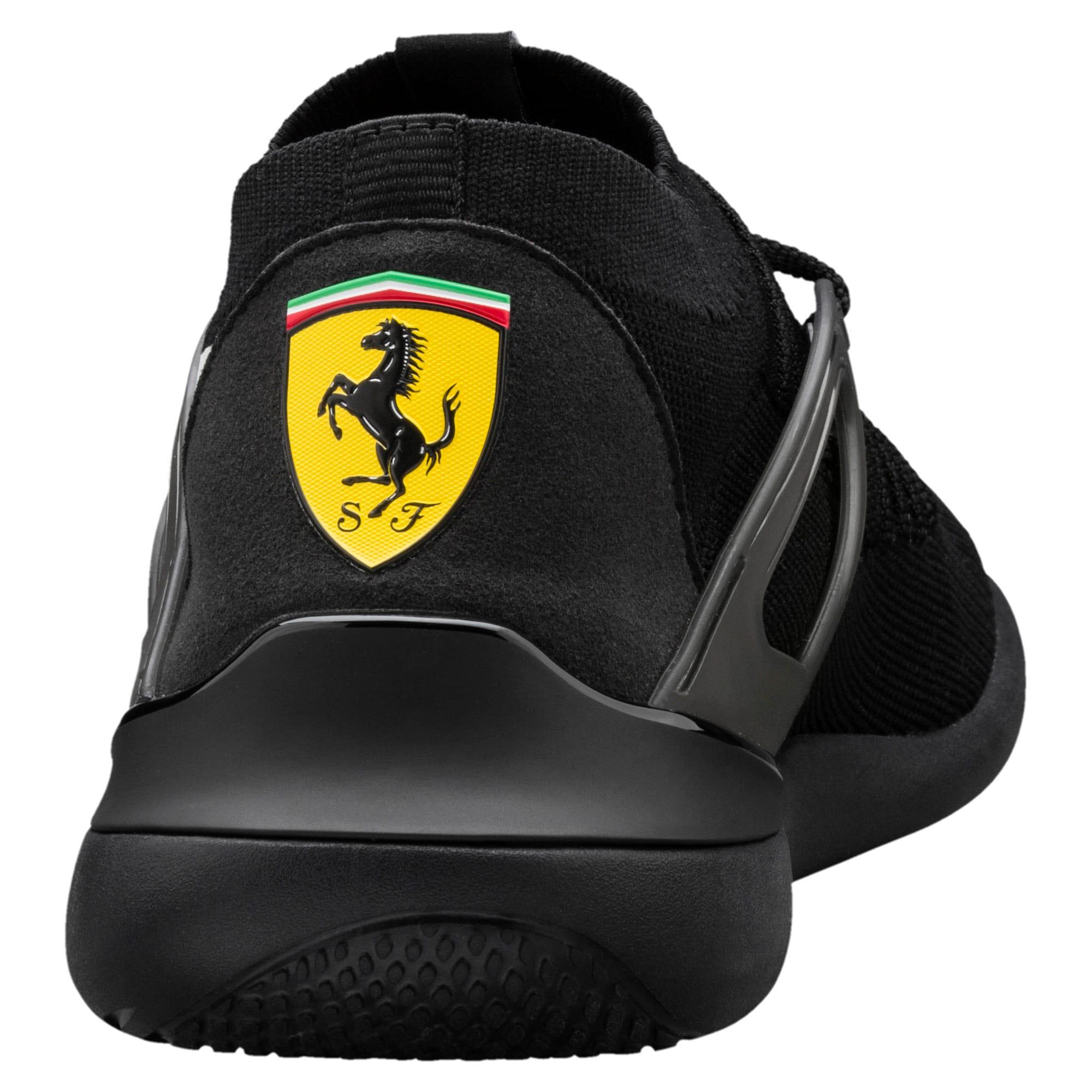Thumbnail 4 of Ferrari Evo Cat Sock Lace Trainers, Puma Black-Puma White-Black, medium-IND