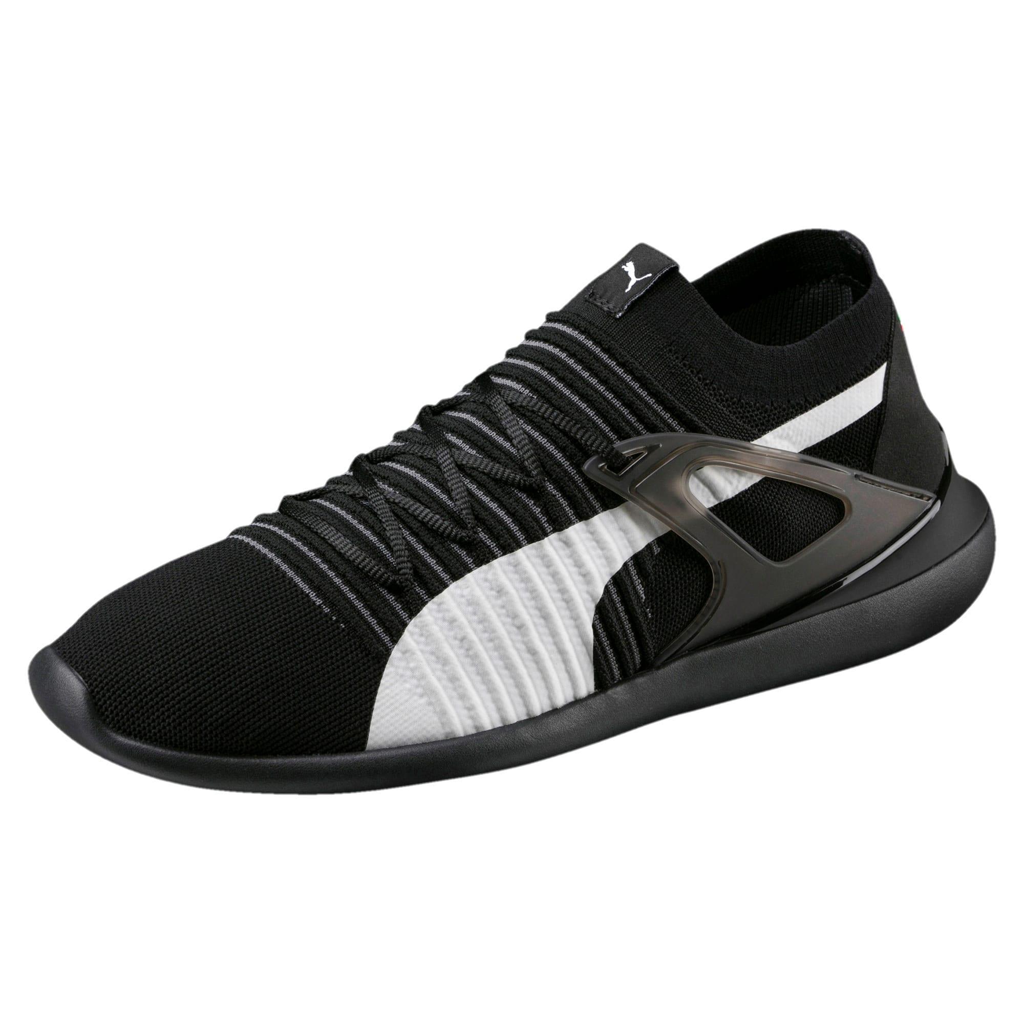 Thumbnail 1 of Ferrari Evo Cat Sock Lace Trainers, Puma Black-Puma White-Black, medium-IND