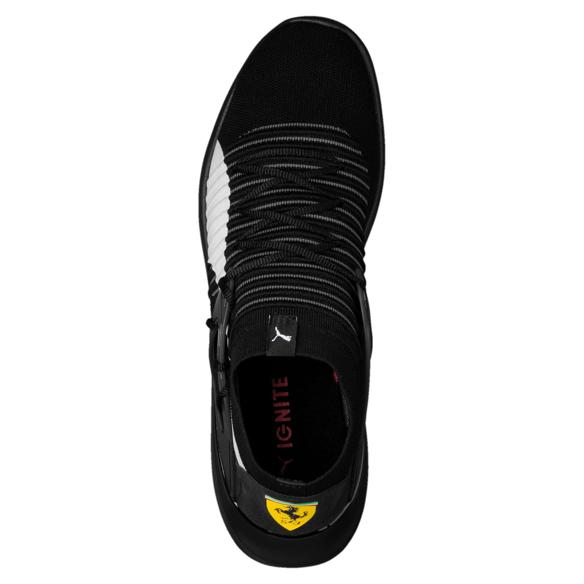 Thumbnail 5 of Ferrari Evo Cat Sock Lace Trainers, Puma Black-Puma White-Black, medium-IND