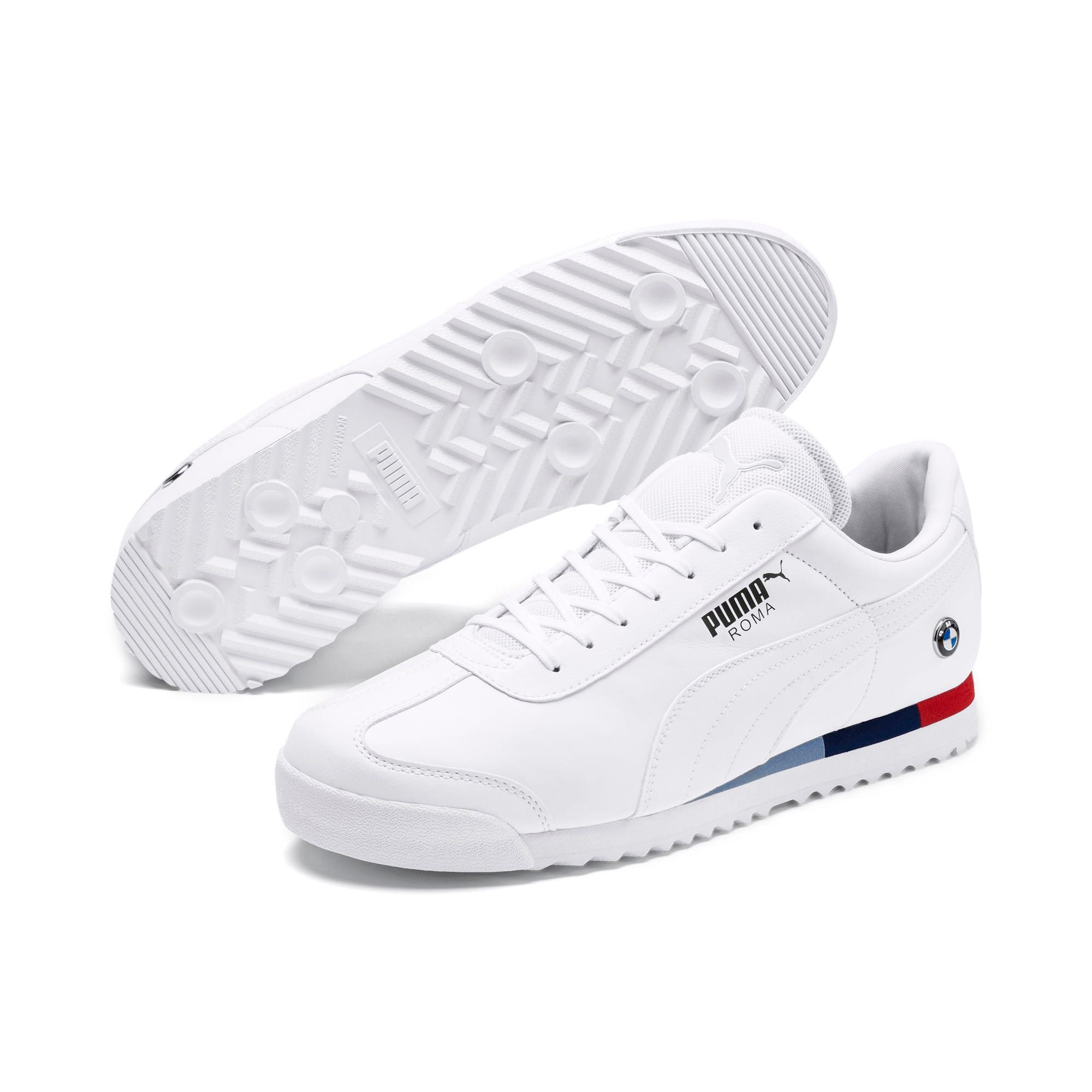 Thumbnail 2 of BMW M Motorsport Roma Men's Sneakers, Puma White-Puma White, medium