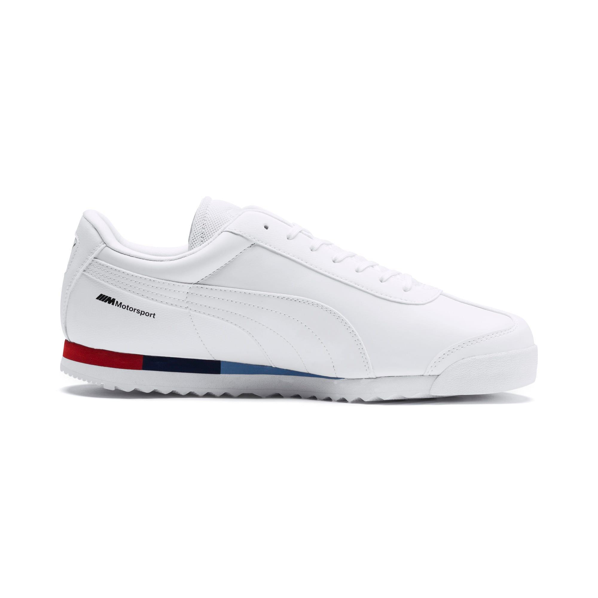 Thumbnail 5 of BMW M Motorsport Roma Men's Sneakers, Puma White-Puma White, medium