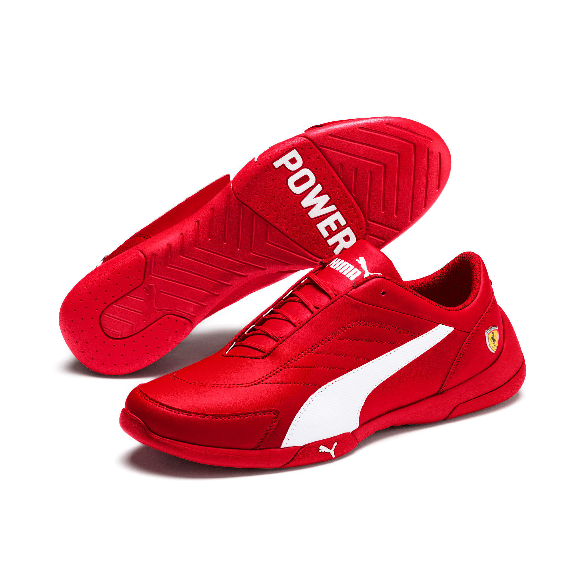 Thumbnail 3 of Scuderia Ferrari Kart Cat III Shoes, Rosso Corsa-White, medium
