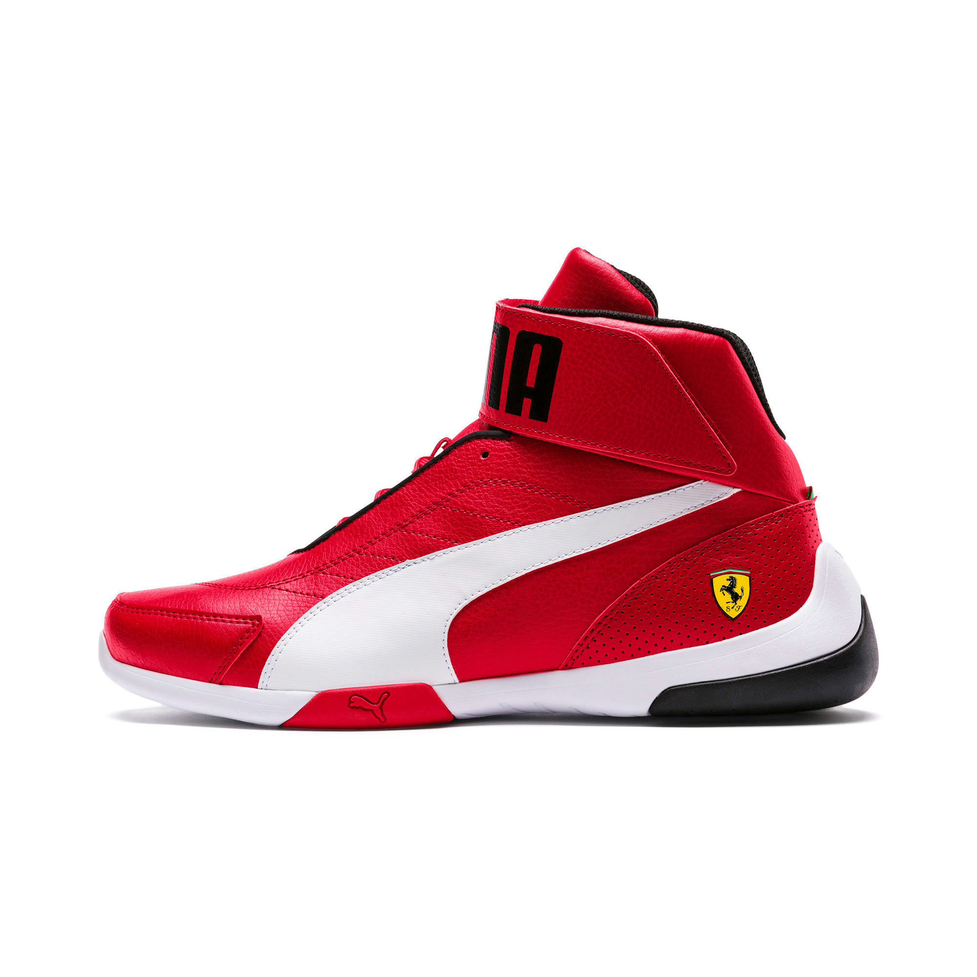 Thumbnail 1 of Scuderia Ferrari Kart Cat Mid III Hi Top Shoes, Rosso Corsa-Puma White, medium