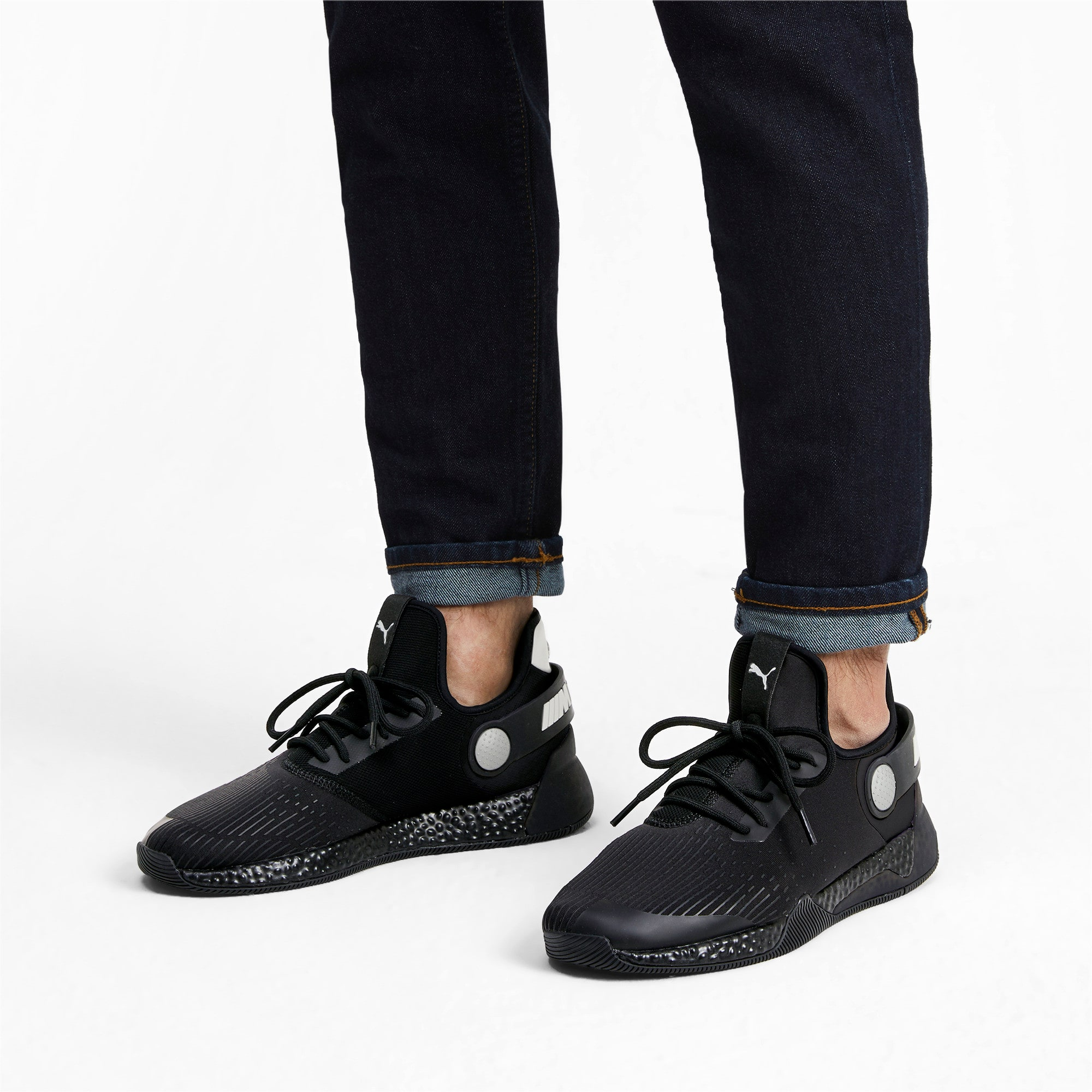 Miniatura 2 de Zapatos para correr BMW M Motorsport HYBRID para hombre, Negro-Negro-Blanco, mediano