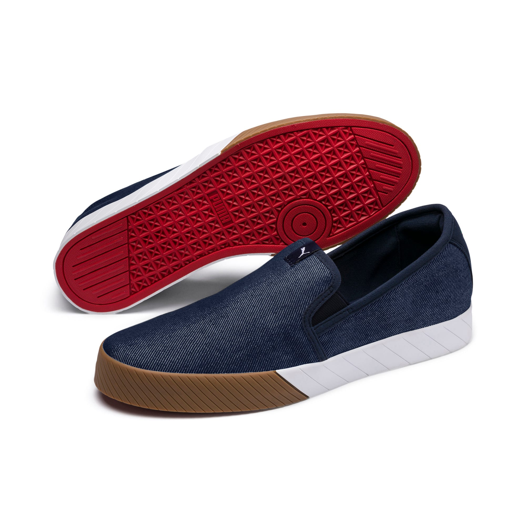Thumbnail 5 of Scuderia Ferrari Men's Slip-On Track Shoes, Peacoat-Peacoat, medium