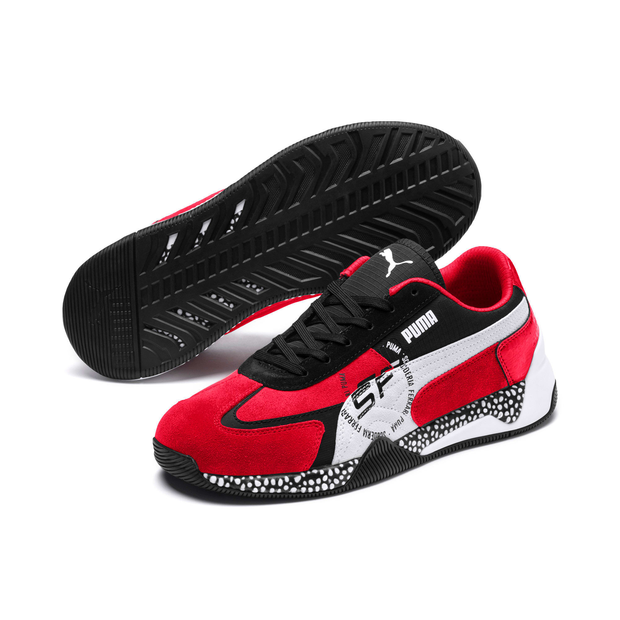 Thumbnail 3 of Ferrari Speed HYBRID Men's Trainers, Rosso Corsa-White-Black, medium