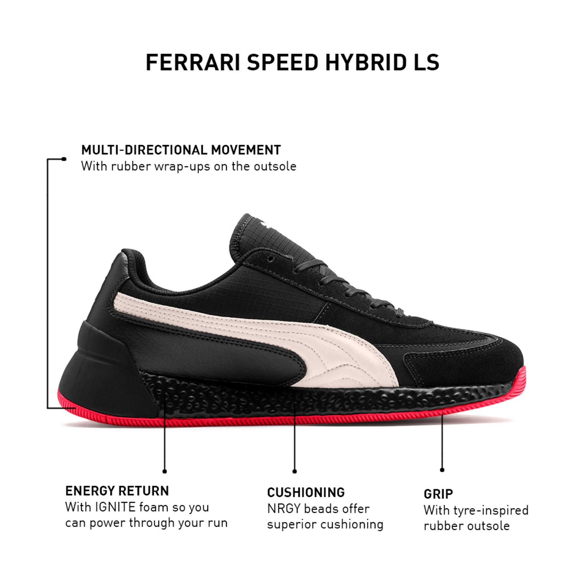 Thumbnail 9 of Ferrari Speed HYBRID LS Men's Trainers, Blk-Pstl Prchmnt-Rosso Corsa, medium-IND