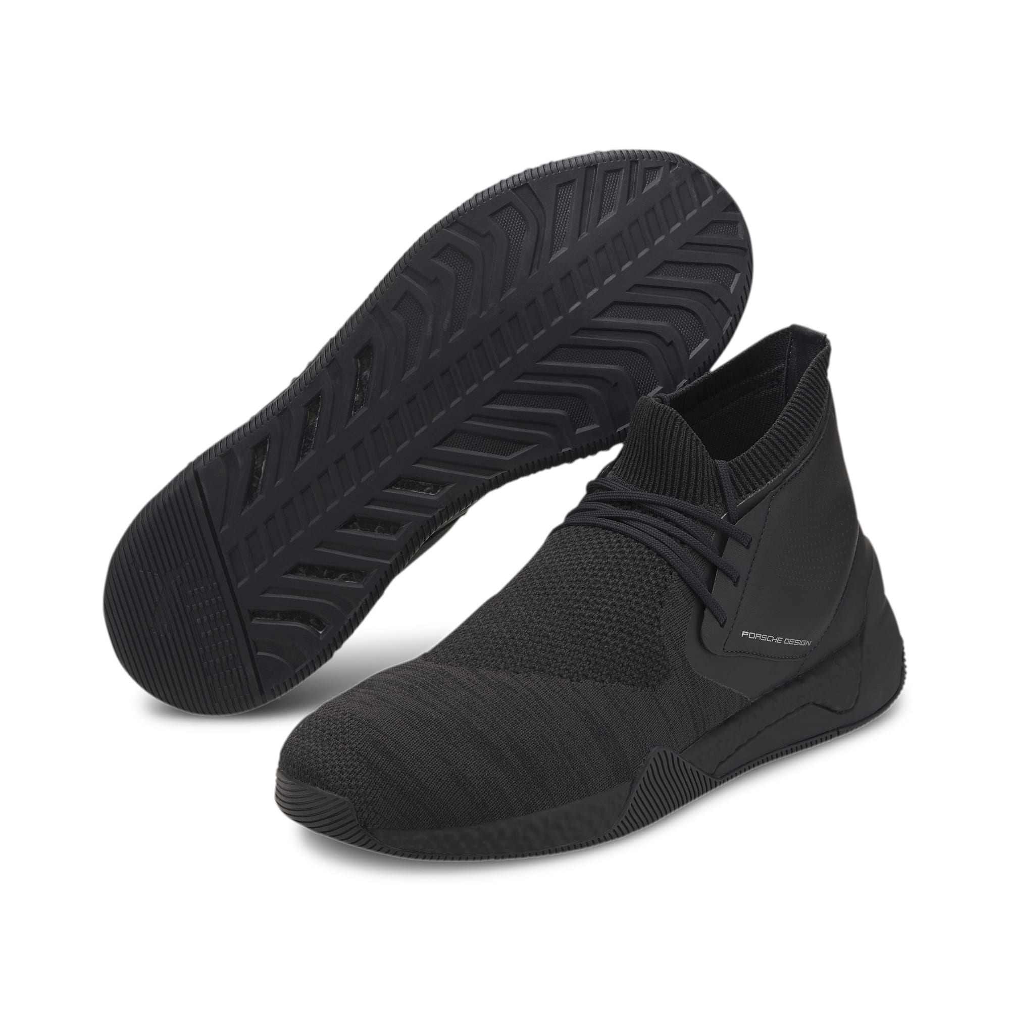 Thumbnail 3 of Porsche Design Hybrid evoKNIT Men's Trainers, Jet Black-Jet Black-JetBlack, medium