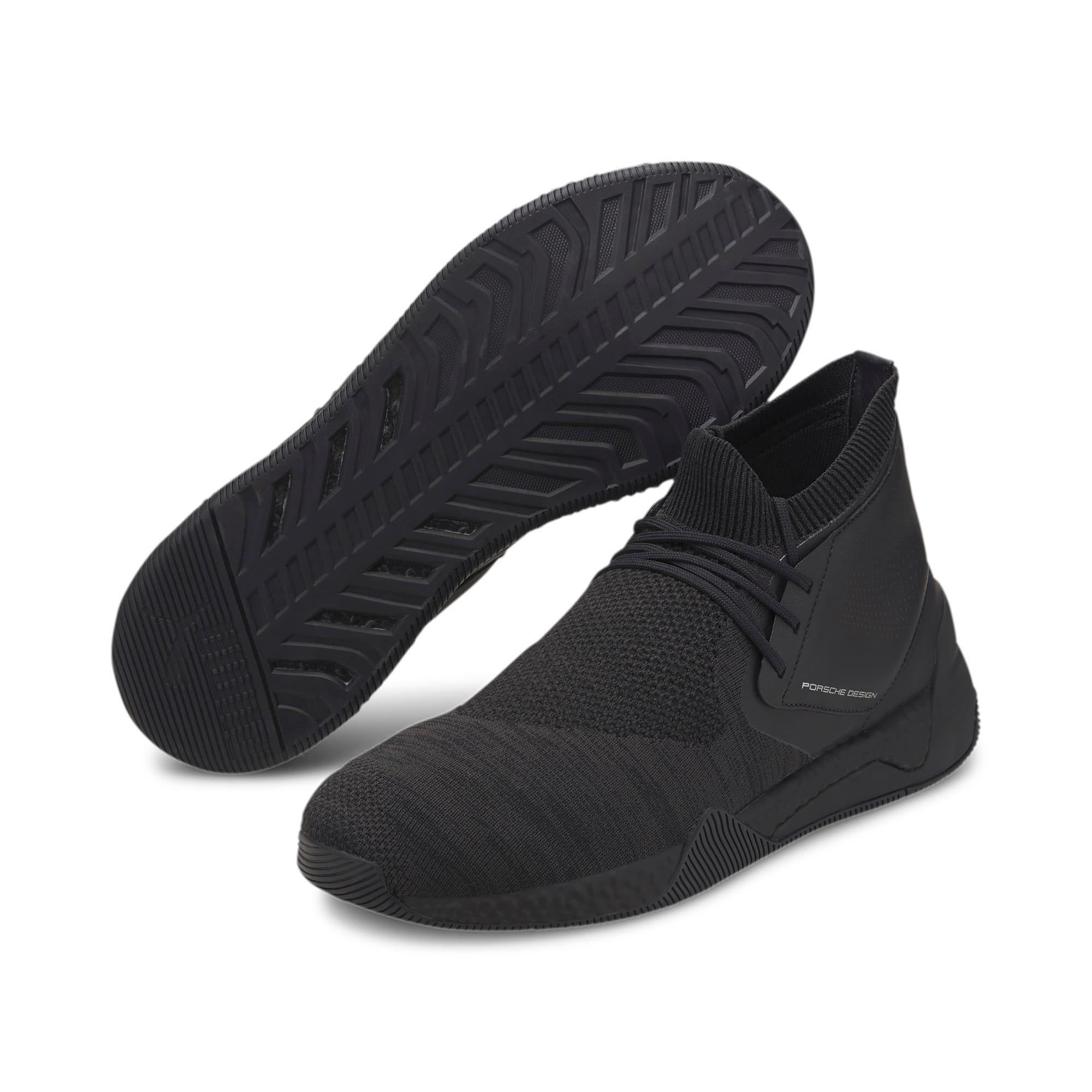 Thumbnail 3 of Porsche Design HYBRID evoKNIT Men's Running Shoes, Jet Black-Jet Black-JetBlack, medium