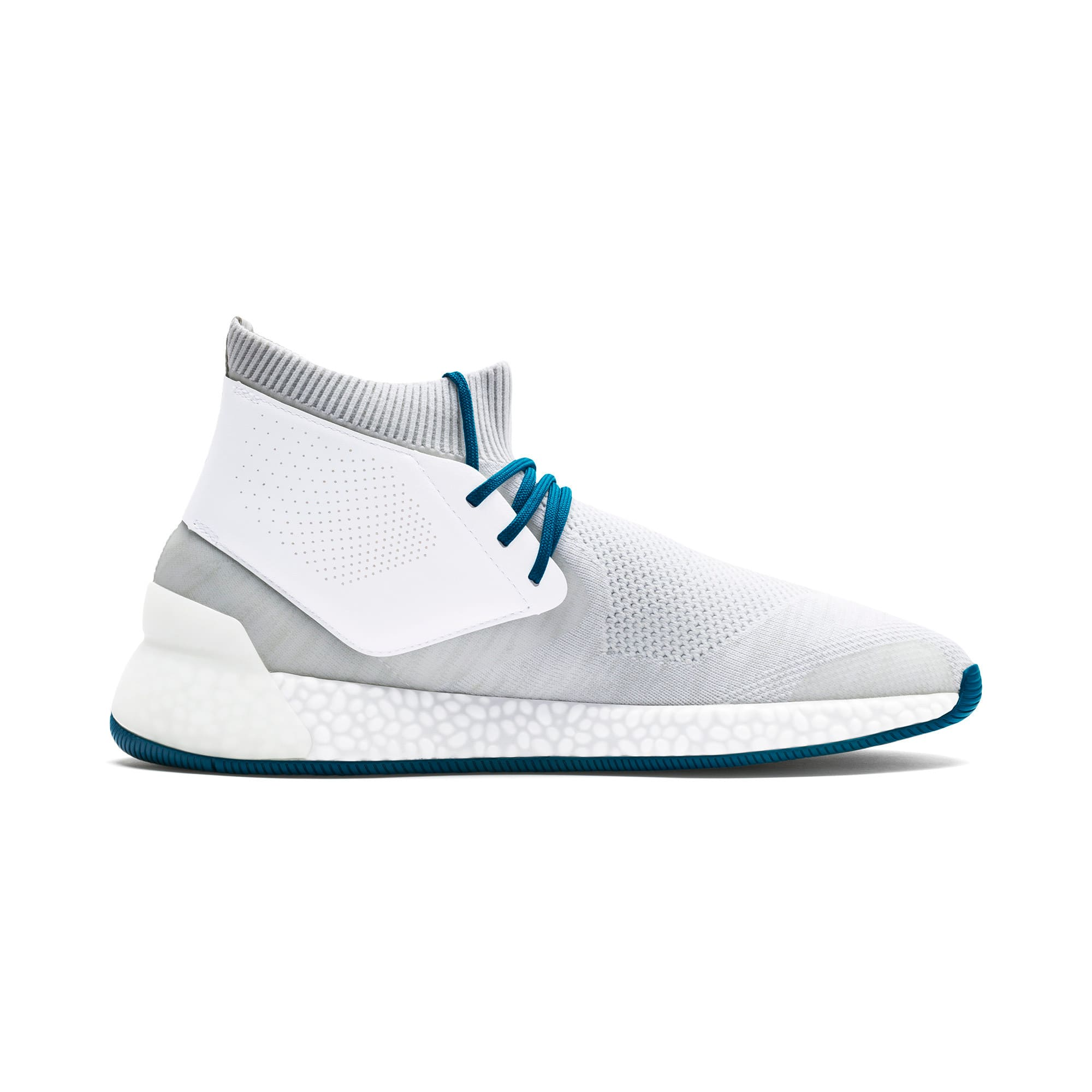 Thumbnail 6 of Porsche Design Hybrid evoKNIT Men's Trainers, White-Gray-Moroccan Blue, medium