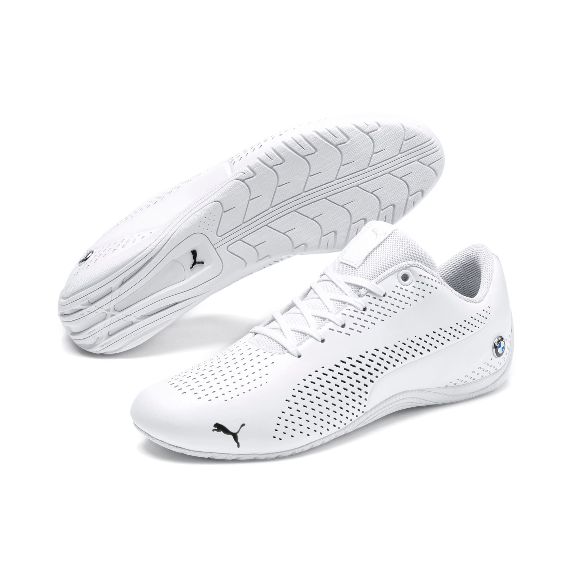 Thumbnail 2 of BMW M Motorsport Drift Cat 5 Ultra II Shoes, Puma White-Puma Black, medium